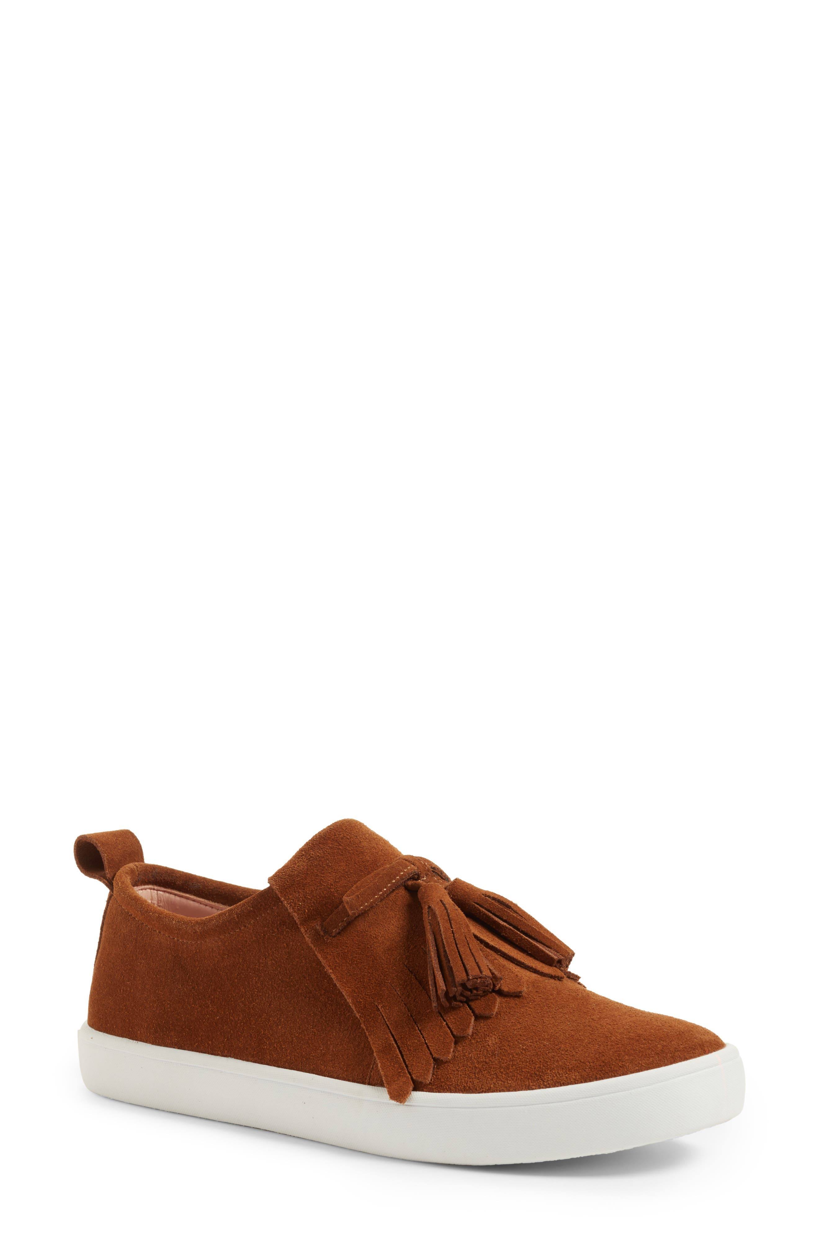 lenna tassel sneaker,                             Main thumbnail 1, color,                             Whiskey Suede