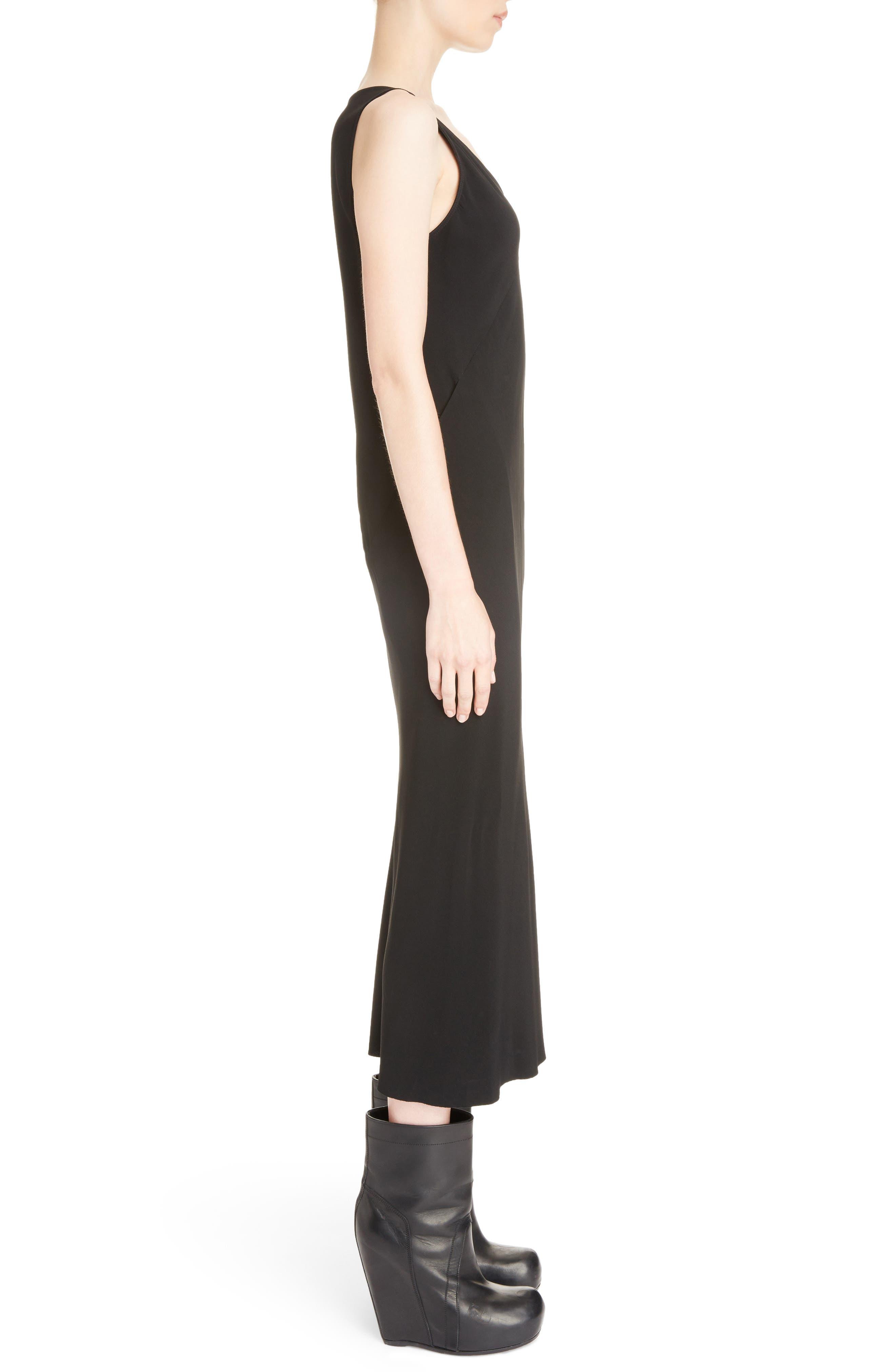 Cady Midi Dress,                             Alternate thumbnail 3, color,                             Black