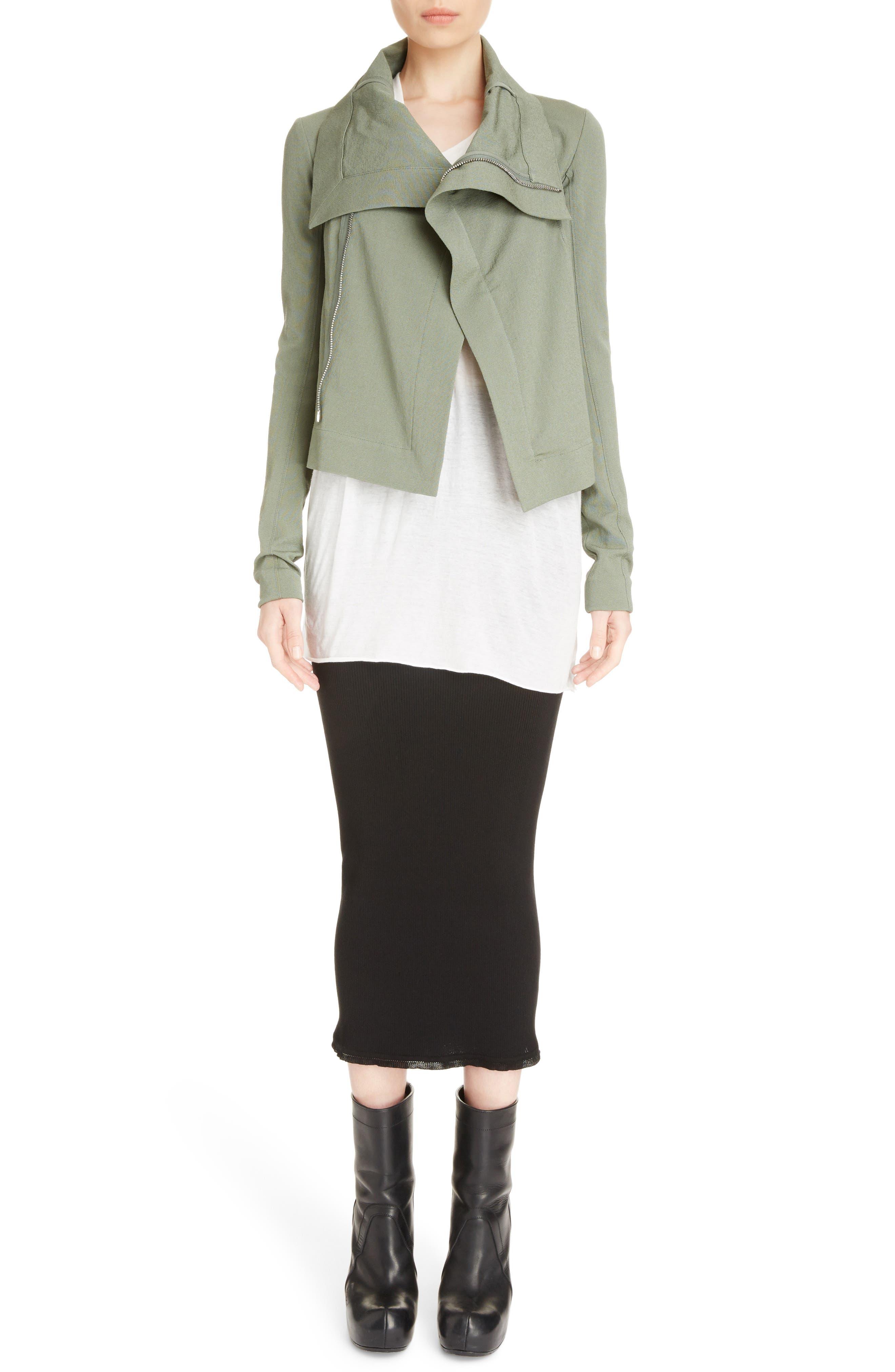 Stretch Knit Midi Skirt,                             Alternate thumbnail 9, color,                             Black