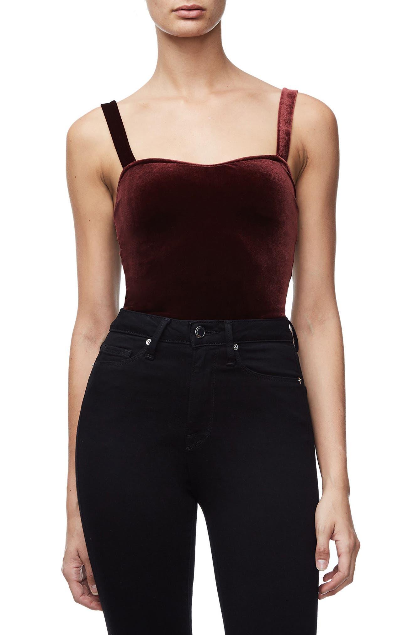 Alternate Image 1 Selected - Good American Sweetheart Bodysuit (Regular & Plus Size)