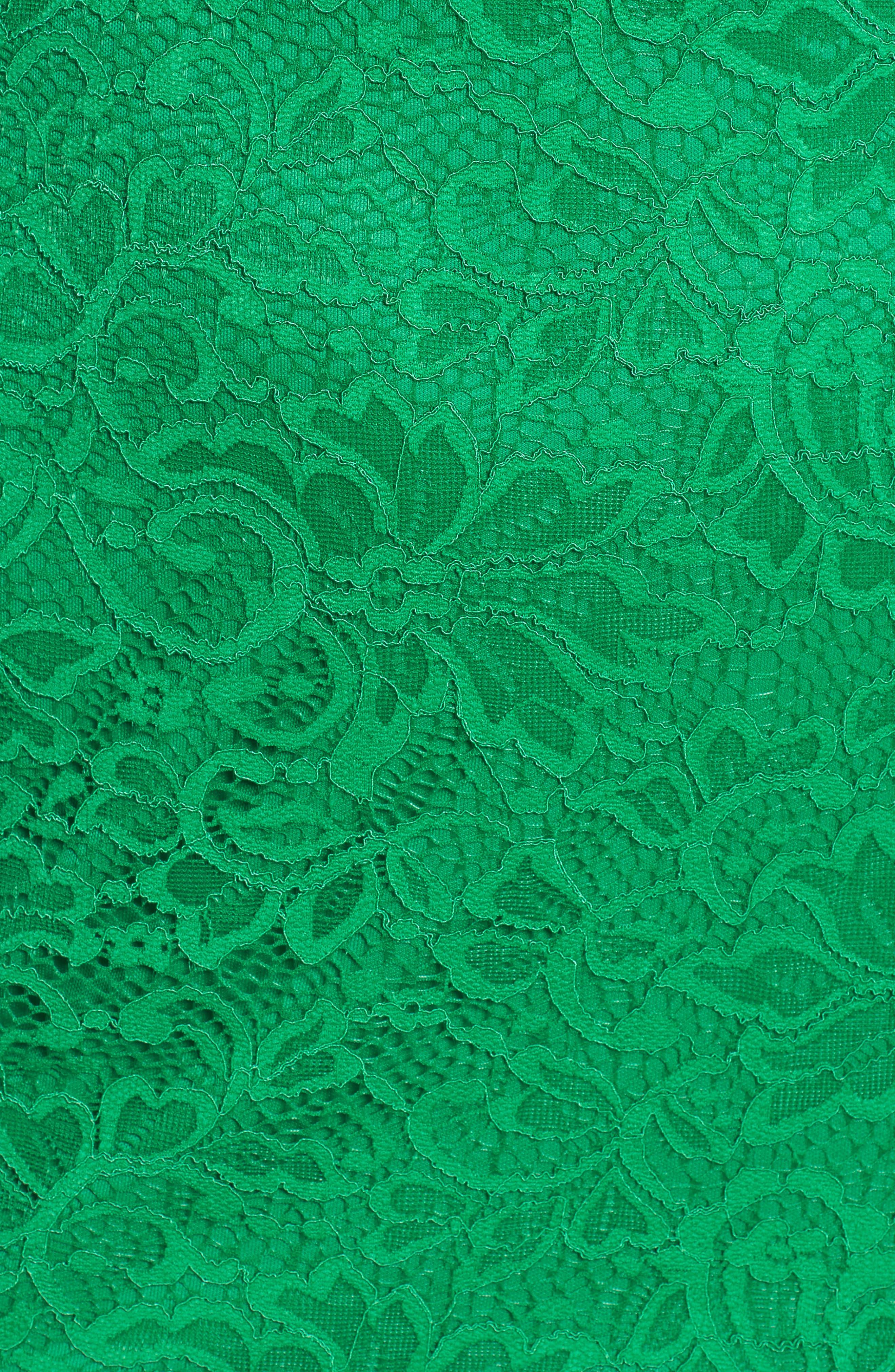 Lace Sheath Dress,                             Alternate thumbnail 5, color,                             Kelly Green