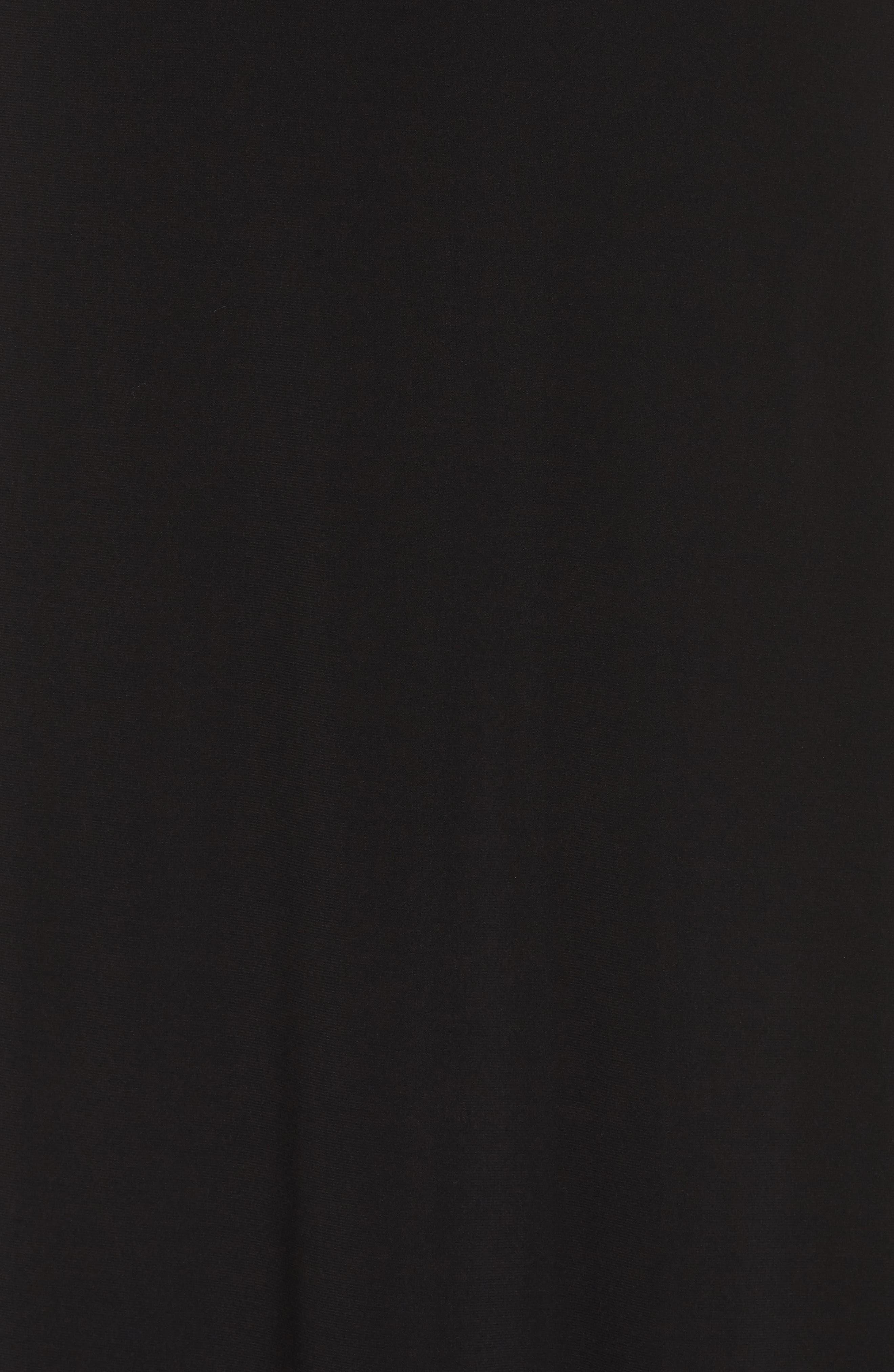 Embellished Cold Shoulder Popover Gown,                             Alternate thumbnail 5, color,                             Black