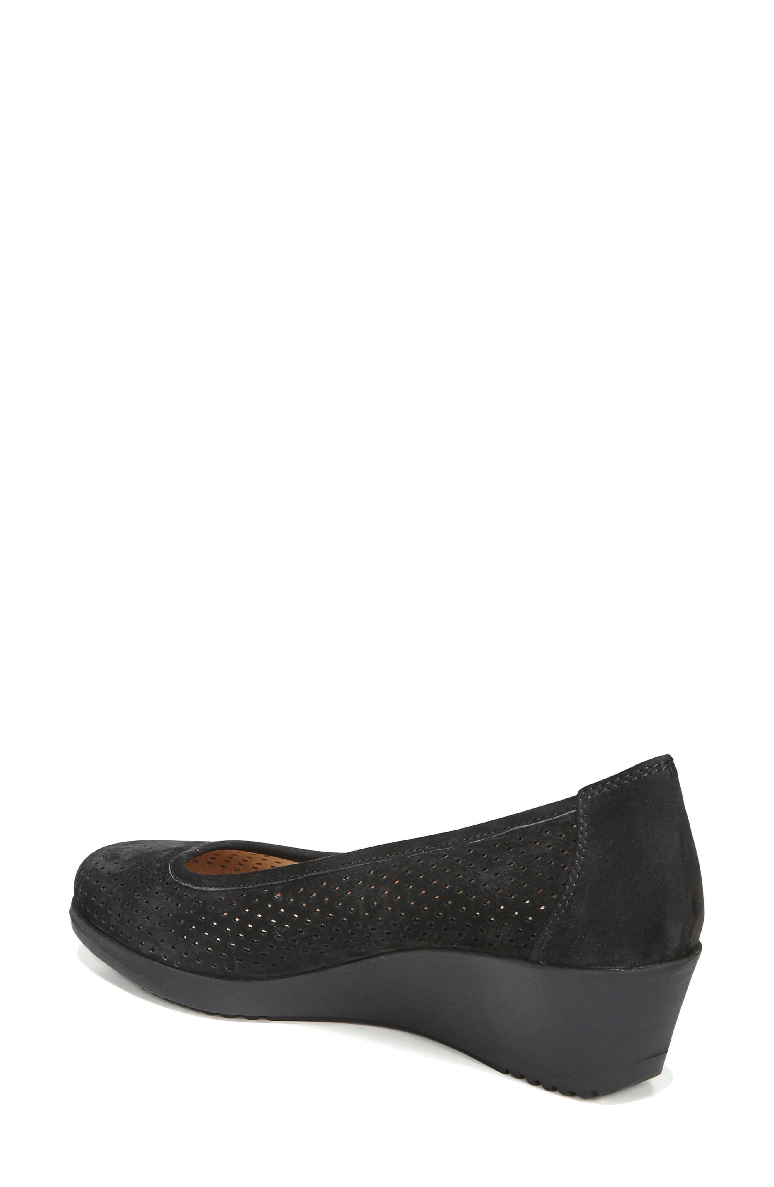 Betina II Wedge,                             Alternate thumbnail 2, color,                             Black Leather