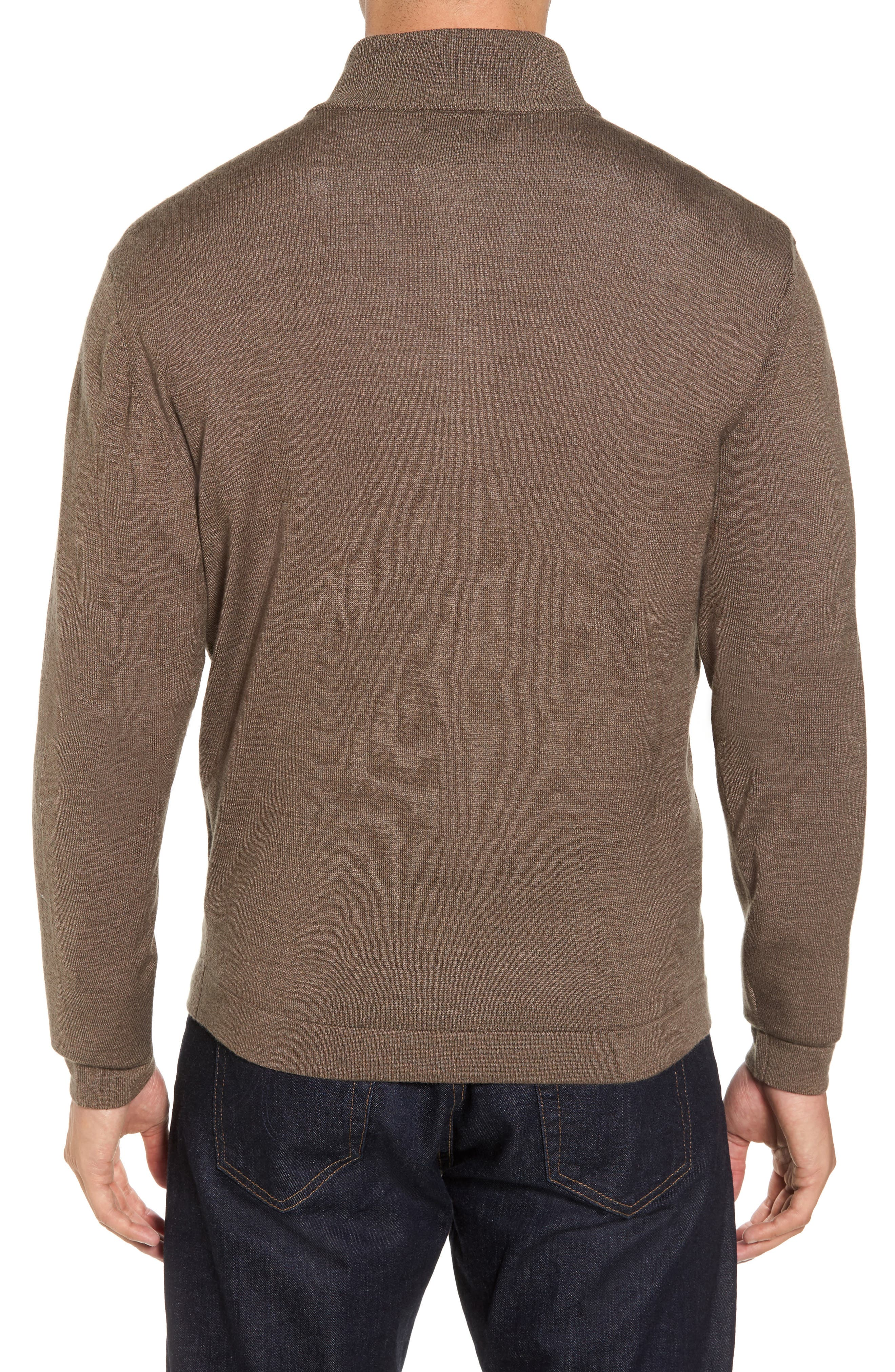 Henry Quarter-Zip Pullover Sweater,                             Alternate thumbnail 2, color,                             Twig