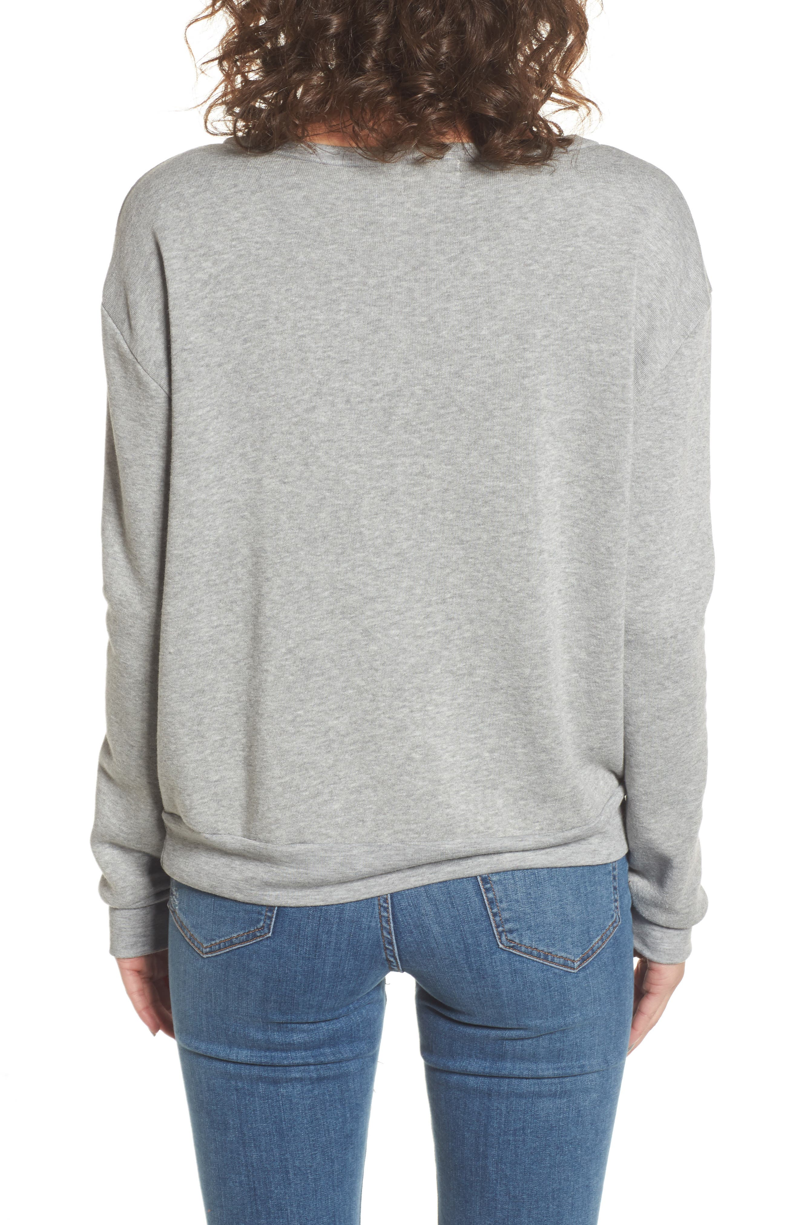 Let's Wine about It Sweatshirt,                             Alternate thumbnail 2, color,                             Heather Grey