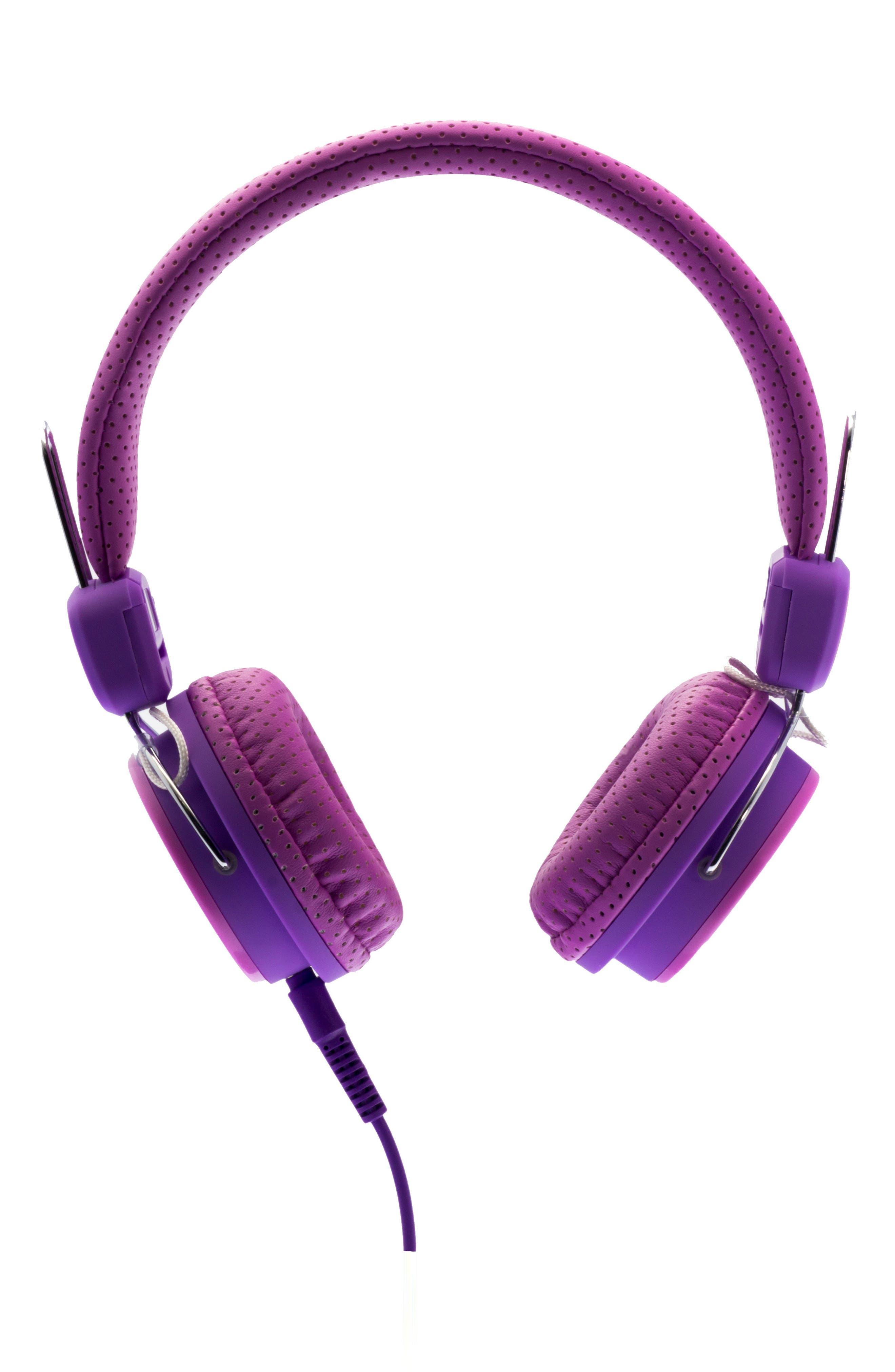 Volume Limited Headphones,                             Alternate thumbnail 3, color,                             Pink/ Purple