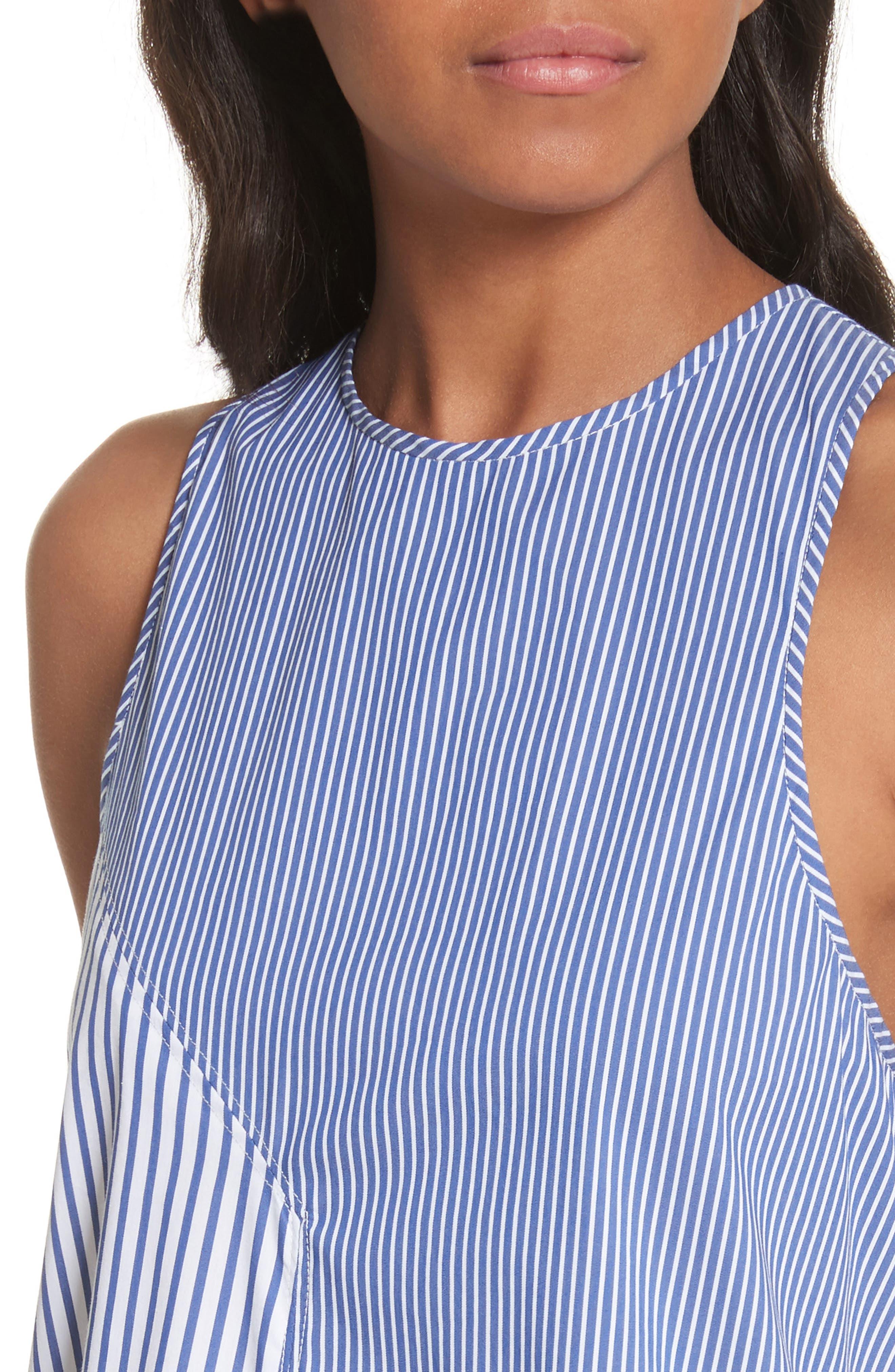 Colorblock Stripe Tank,                             Alternate thumbnail 4, color,                             Blue Multi