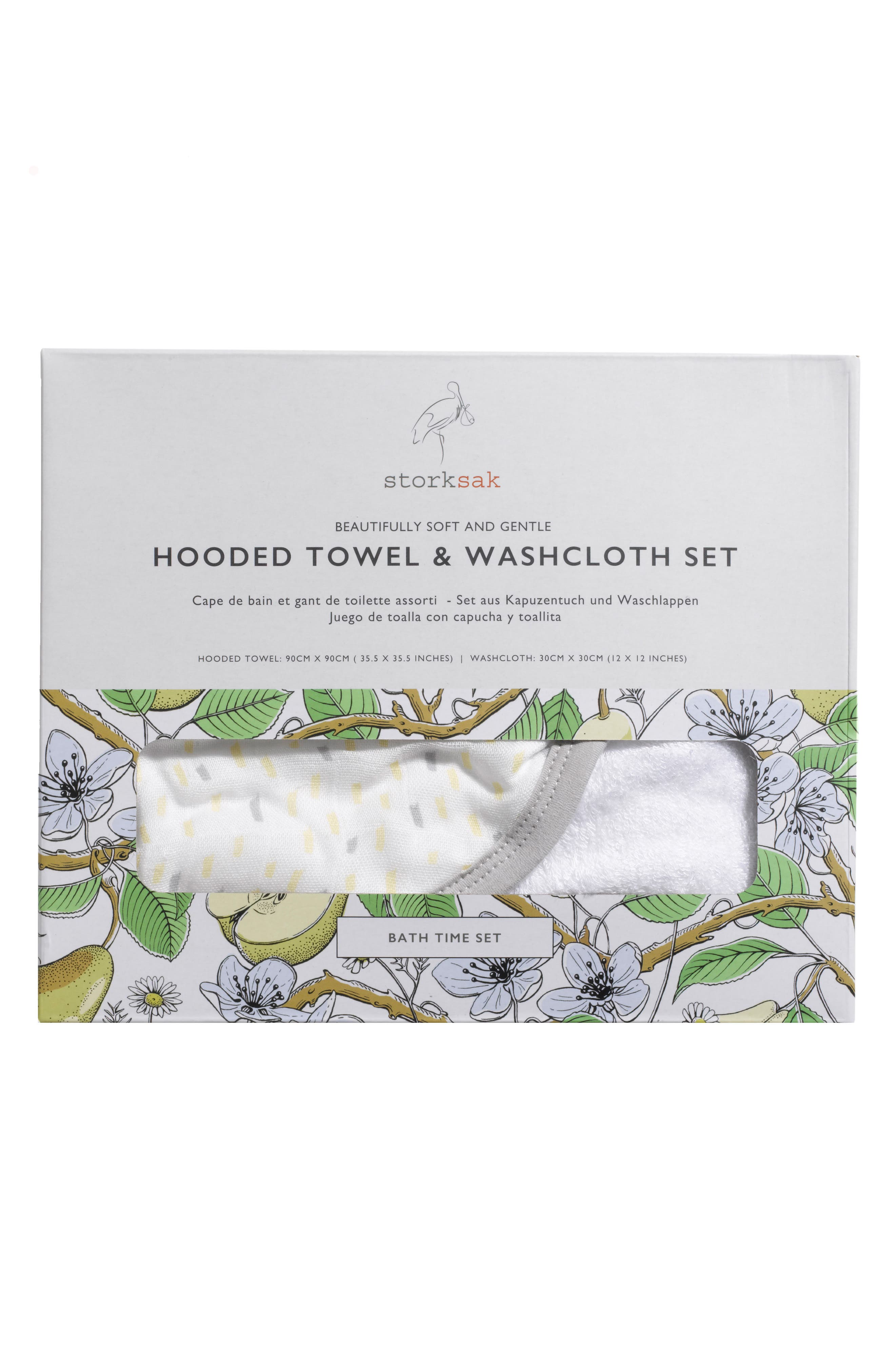 Alternate Image 6  - Storksak Hooded Towel & Washcloth Set