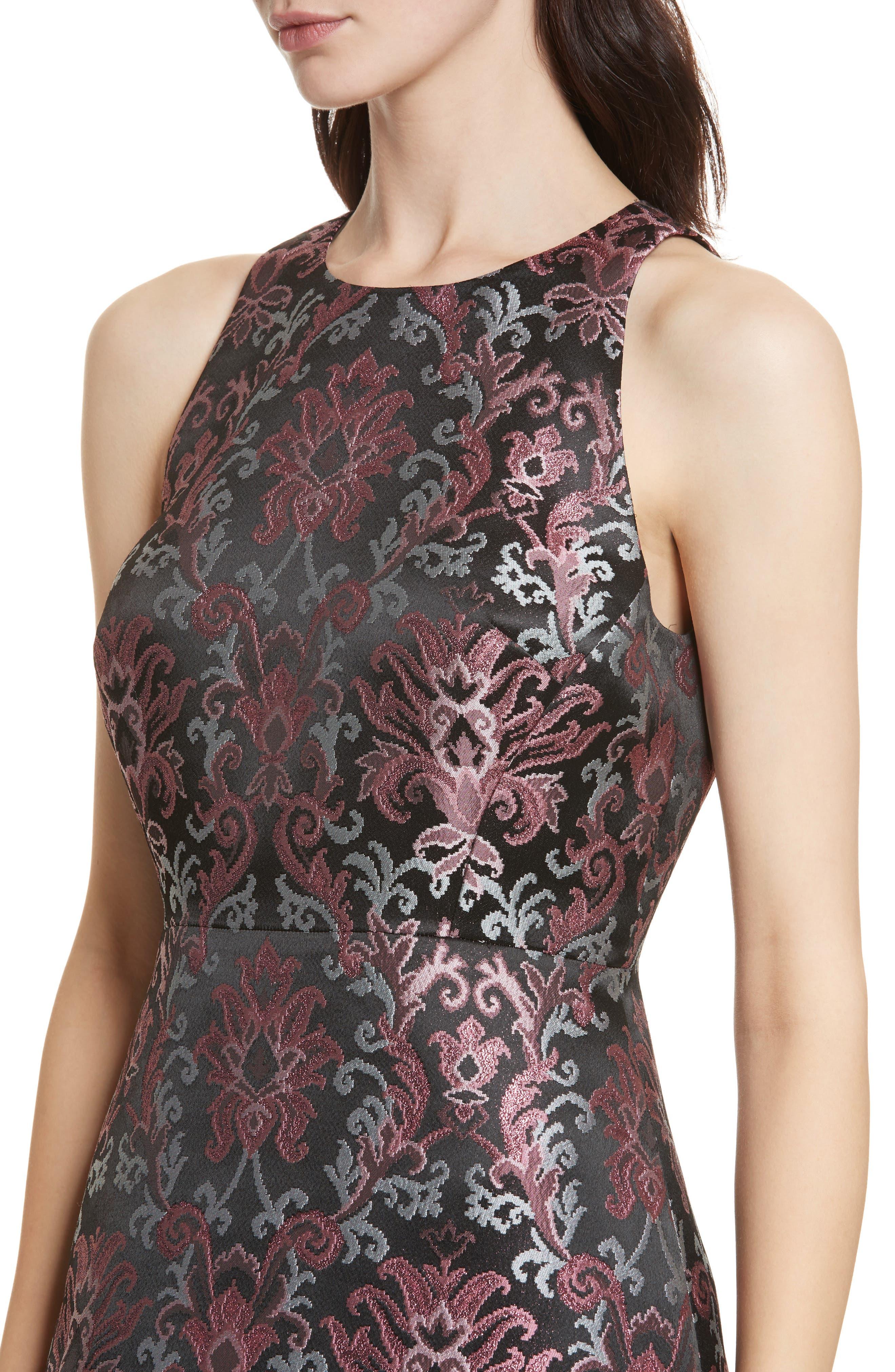 tapestry jacquard dress,                             Alternate thumbnail 4, color,                             Multi