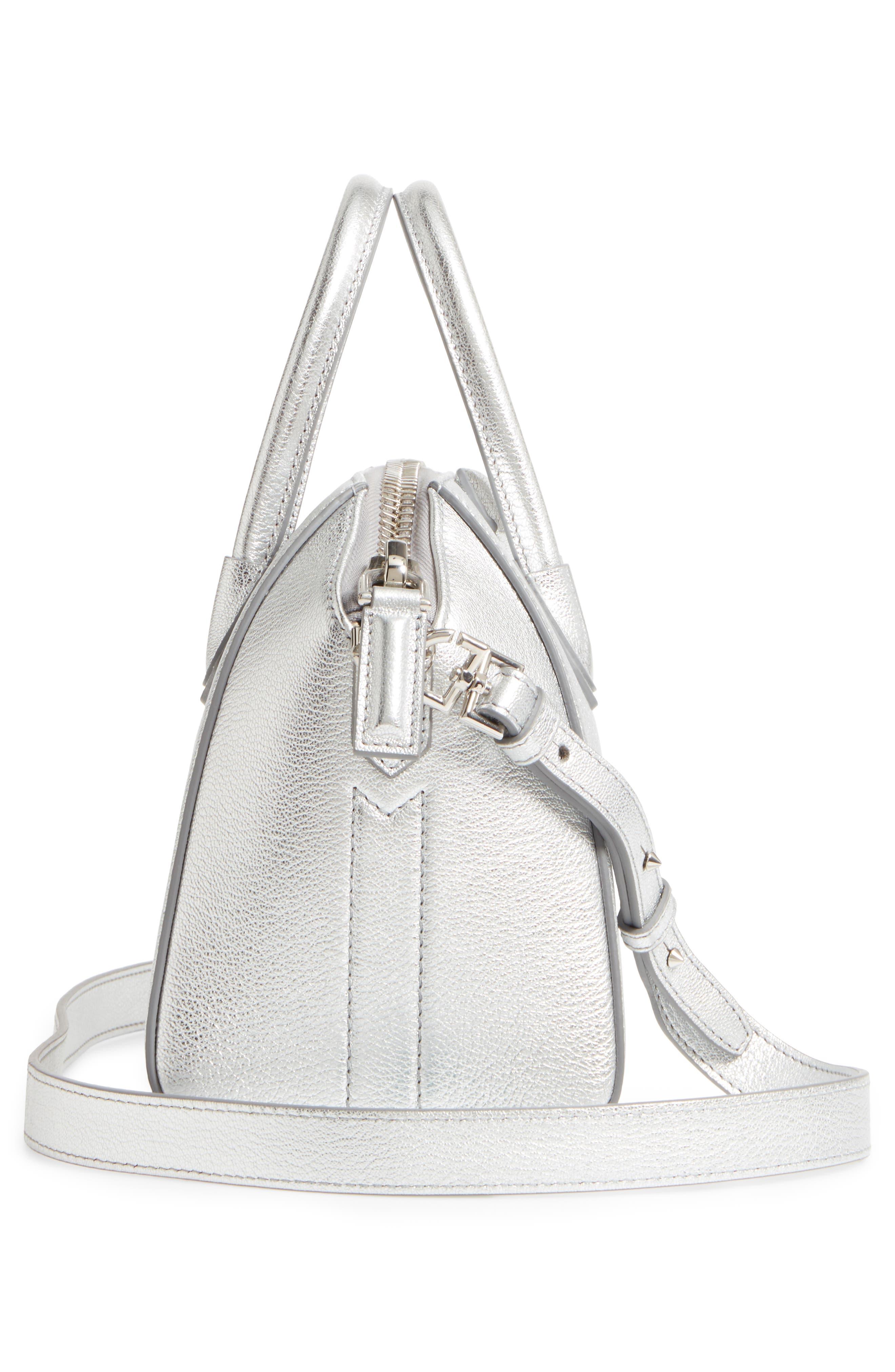 Alternate Image 4  - Givenchy Mini Antigona Metallic Leather Satchel