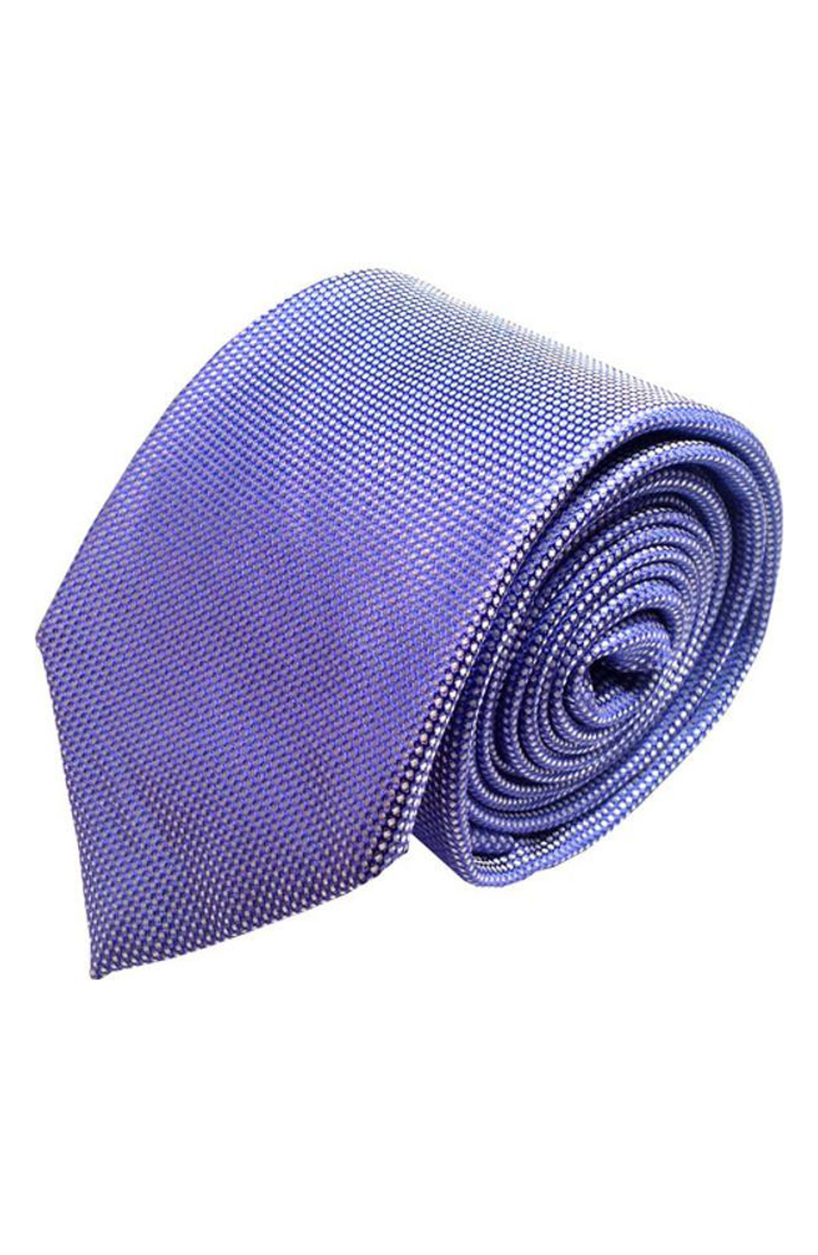 Mullet Silk Tie,                             Main thumbnail 1, color,                             Blue