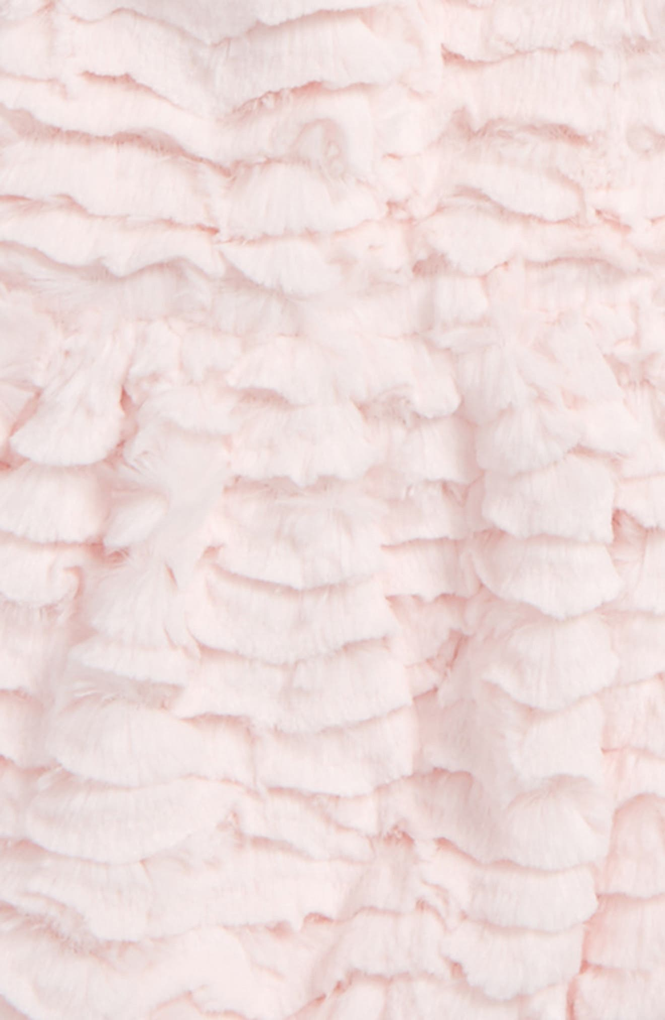 Faux Fur Hooded Peplum Coat,                             Alternate thumbnail 2, color,                             Pink Sandstone