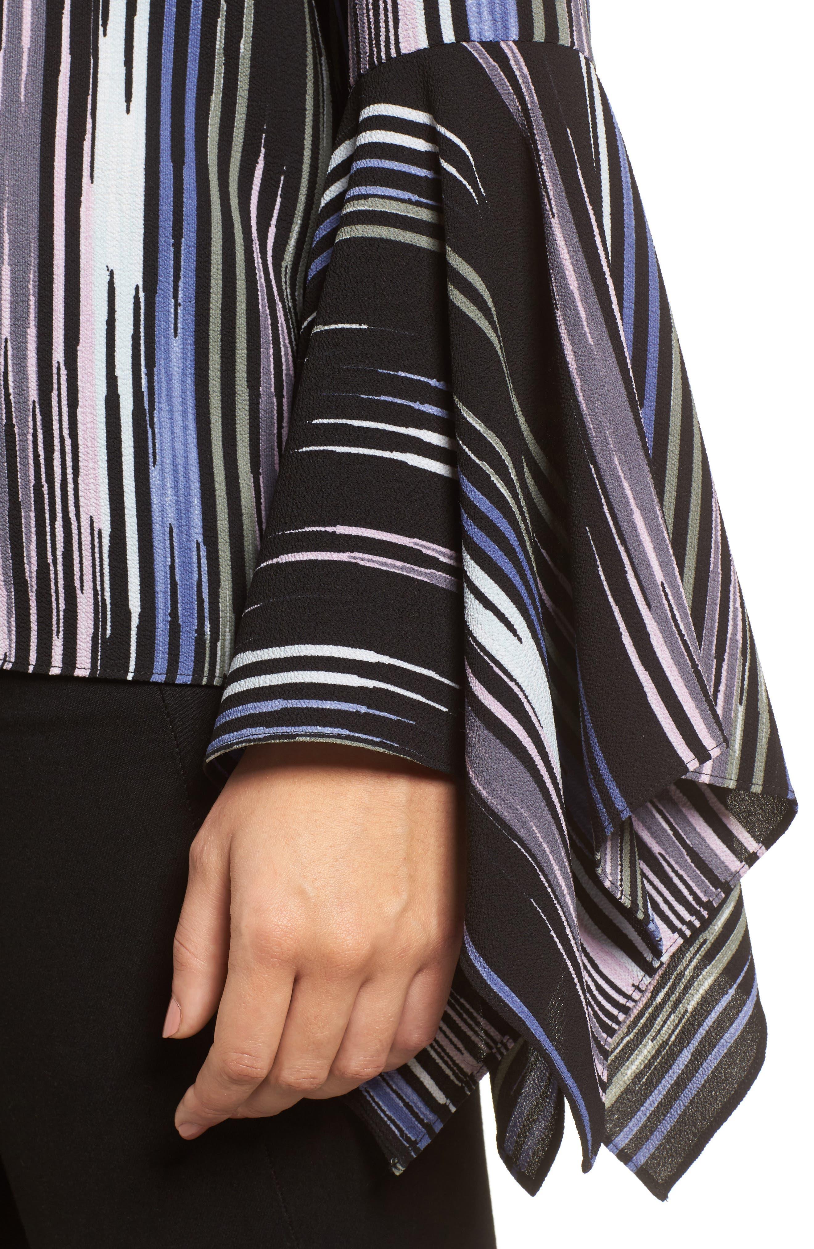 Alternate Image 4  - Vince Camuto Colorful Peaks Handkerchief Sleeve Top