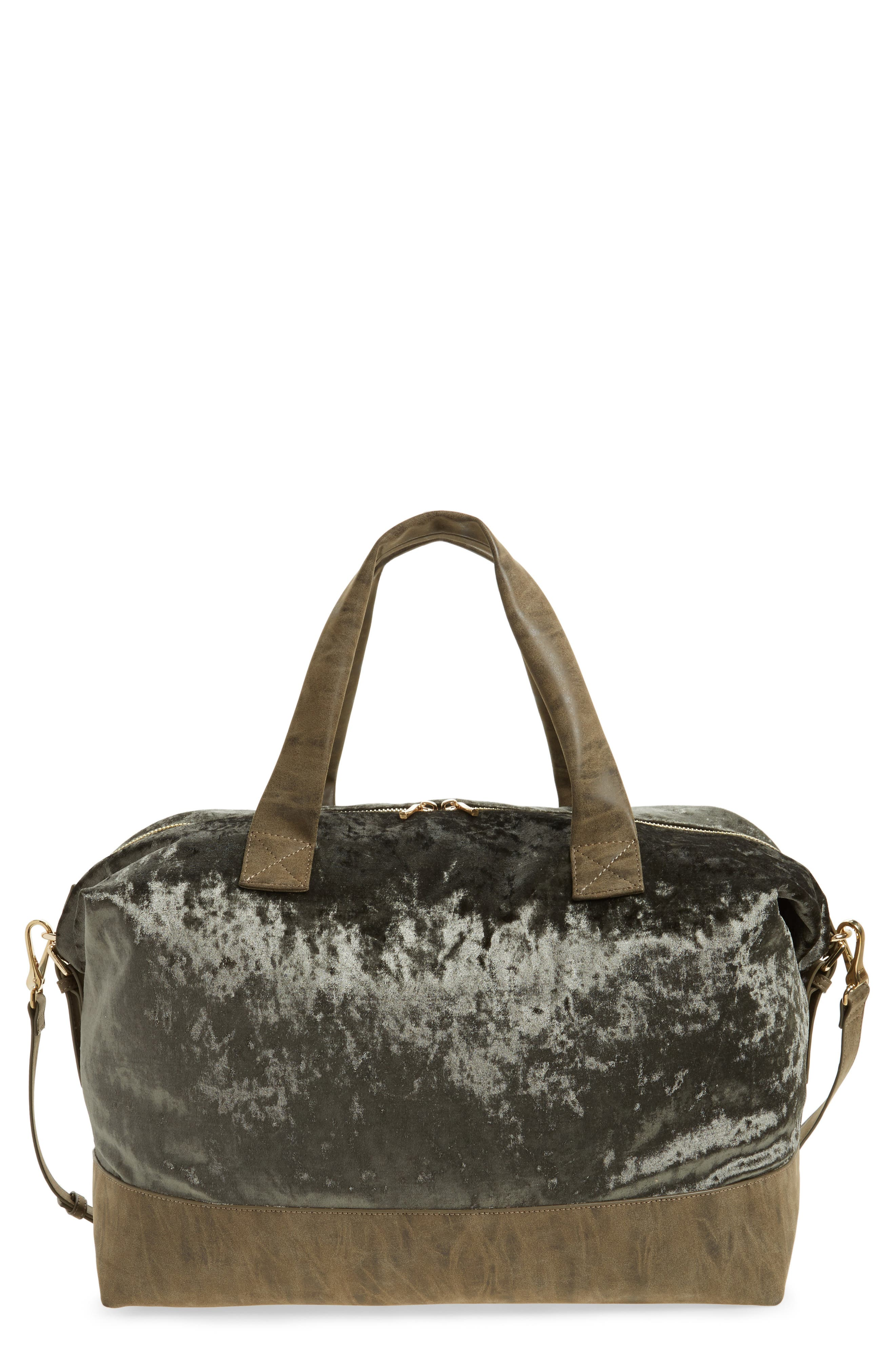 Alternate Image 1 Selected - Sole Society Venti Velvet Duffel Bag