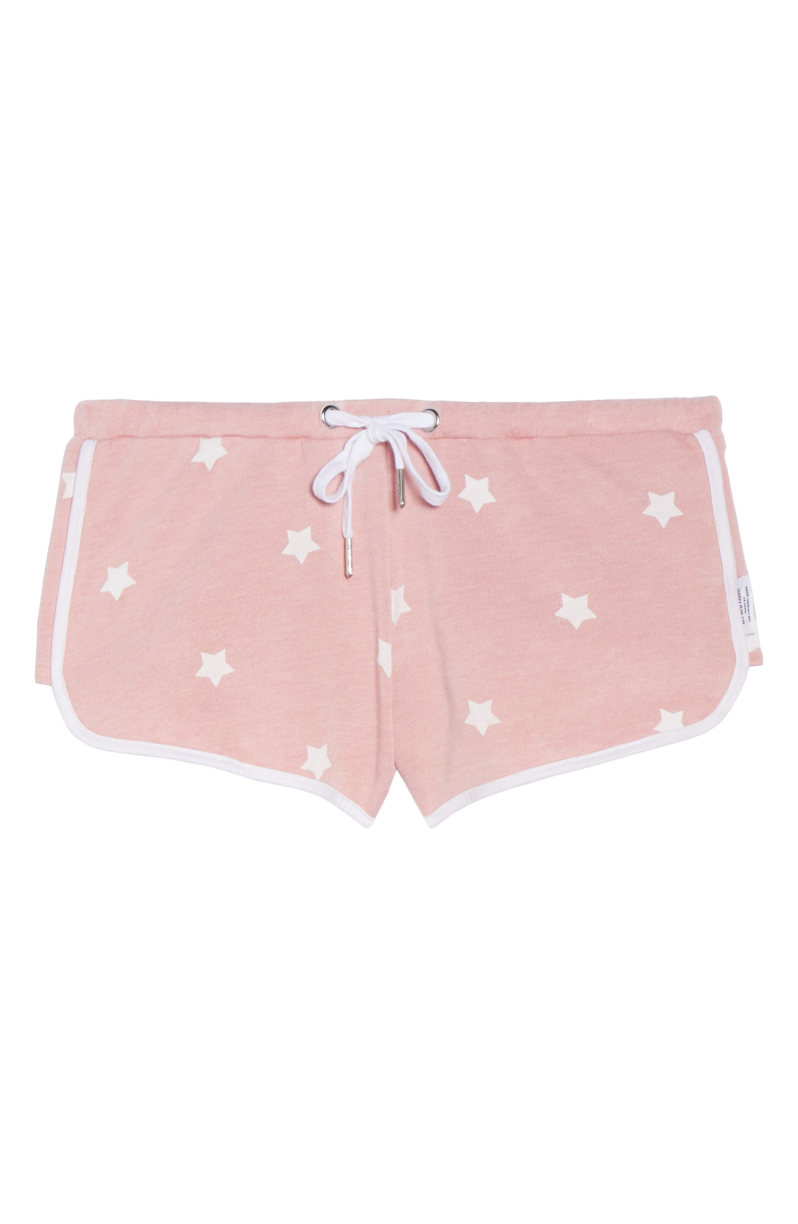 Cozy Crew Lounge Shorts,                             Alternate thumbnail 4, color,                             Champagne Star