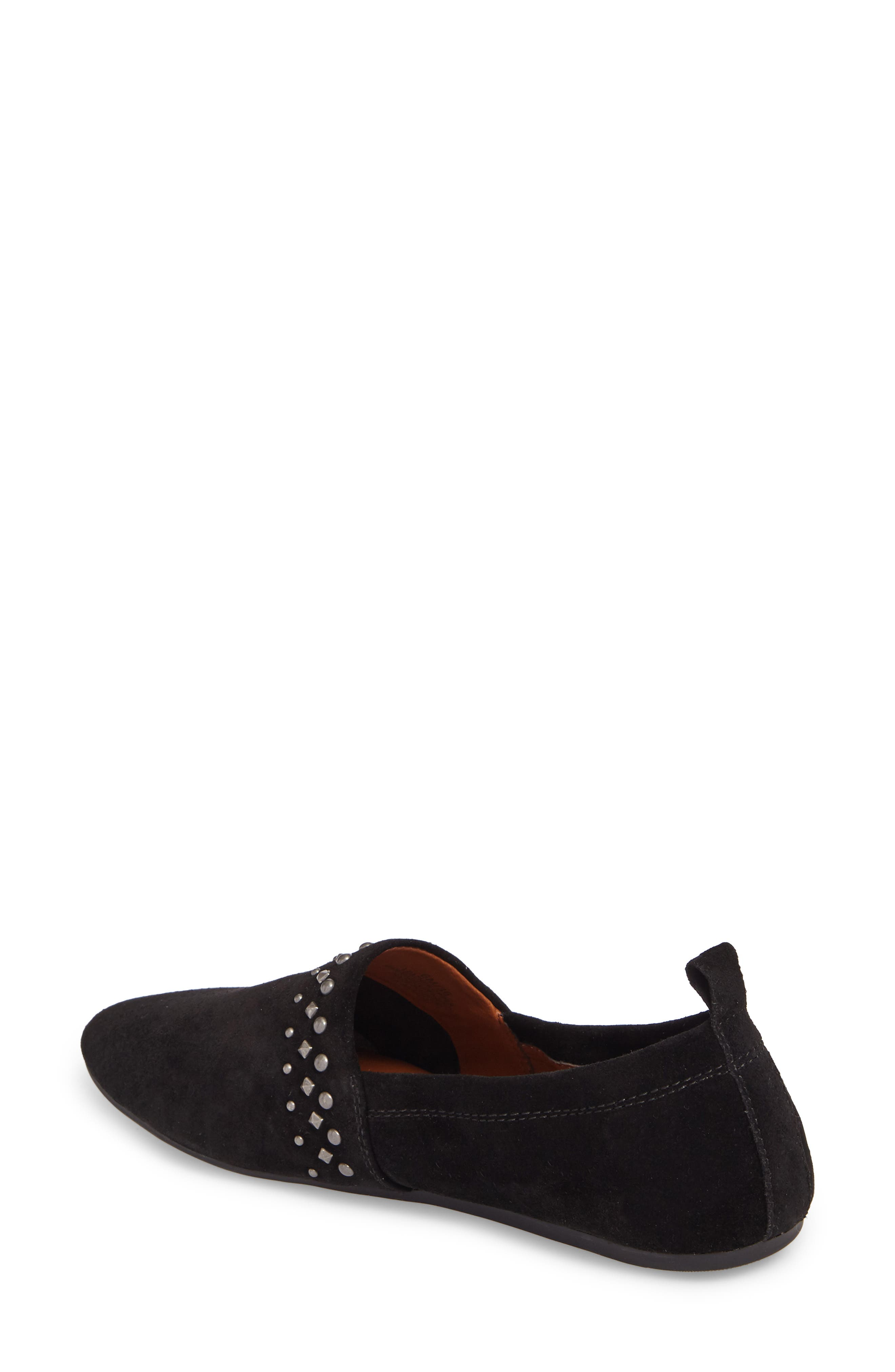 Baako Studded Flat,                             Alternate thumbnail 2, color,                             Black Suede