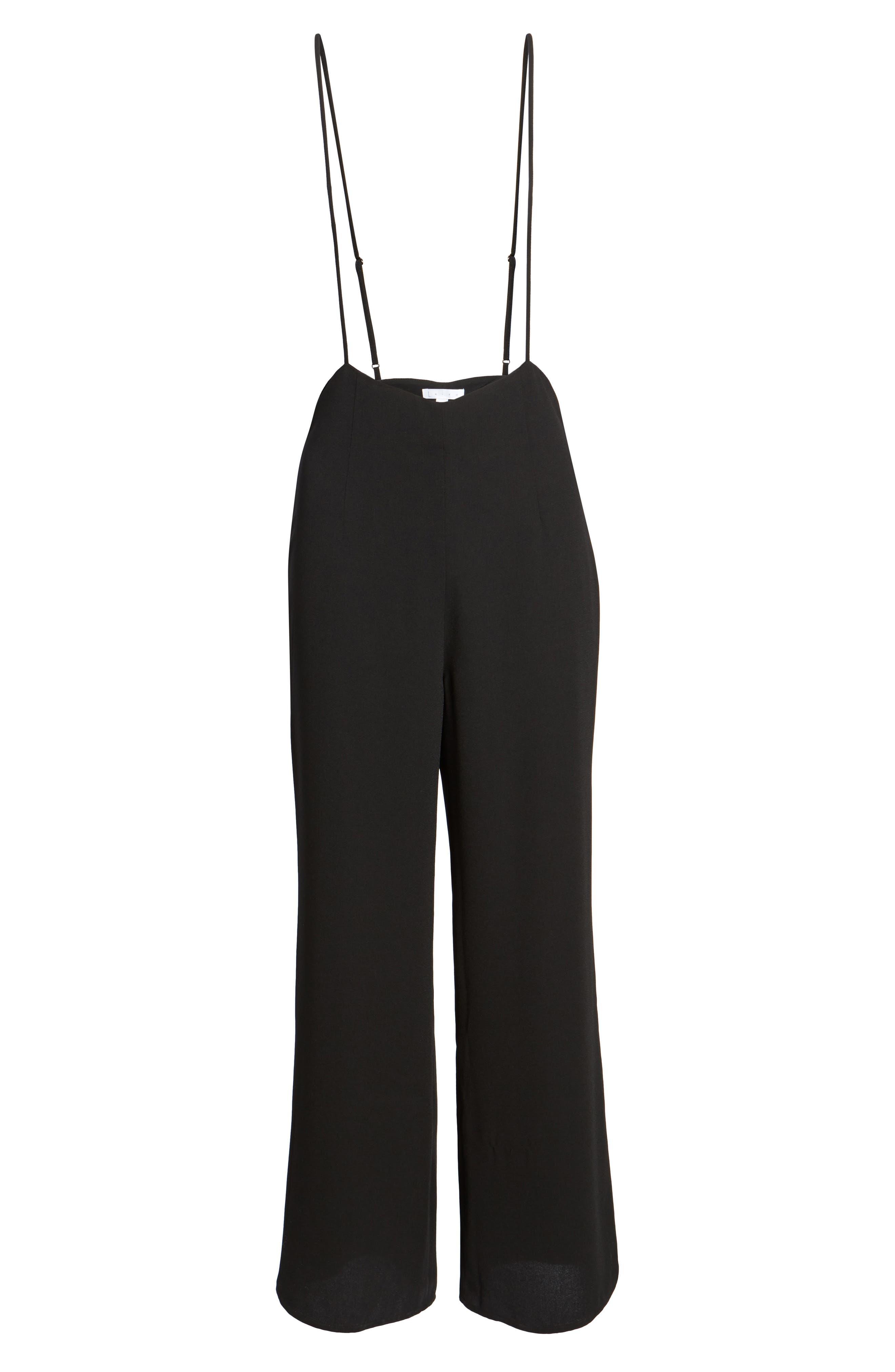 Suspender Pants,                             Alternate thumbnail 6, color,                             Black