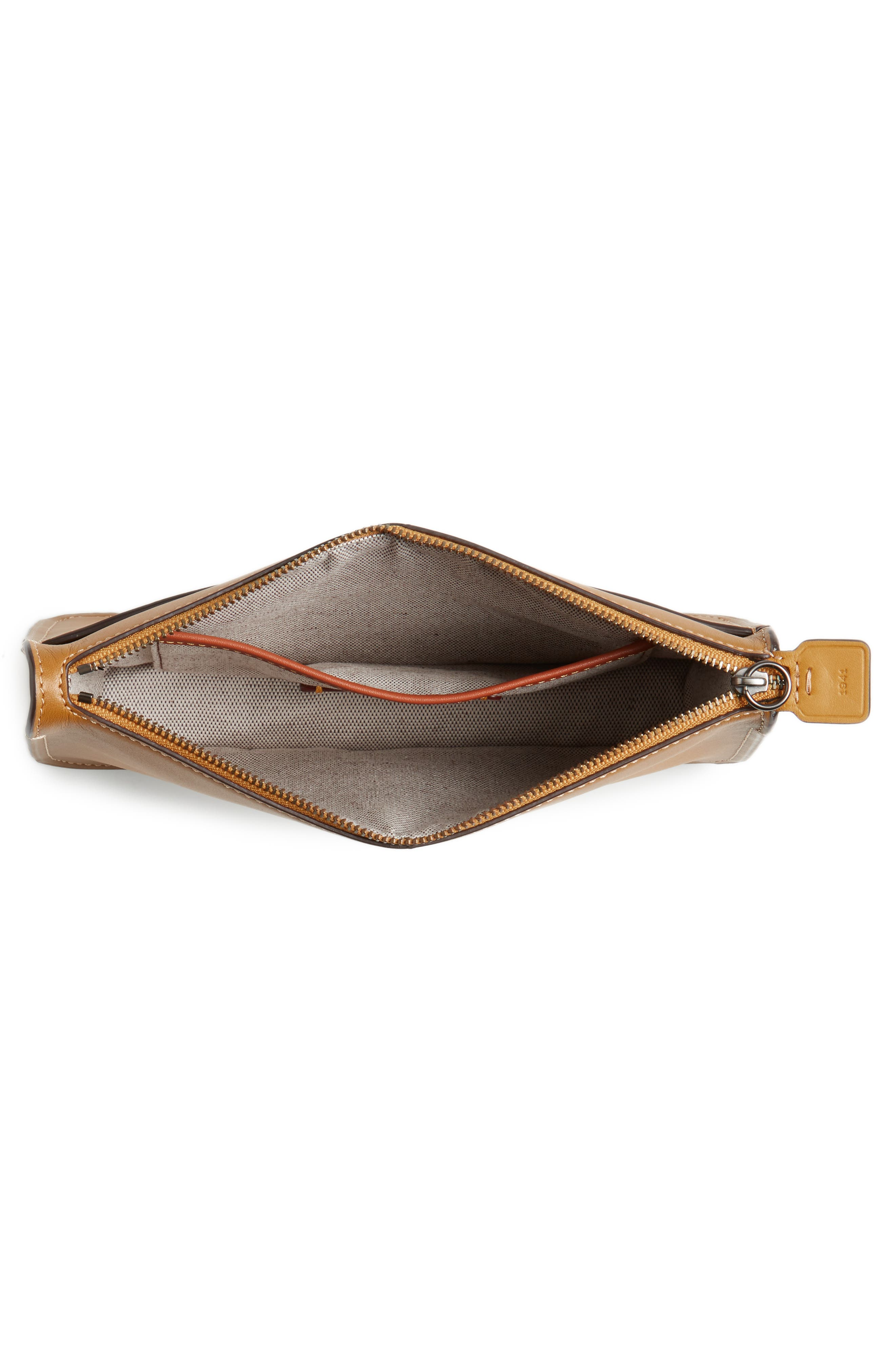 Soho Leather Crossbody Bag,                             Alternate thumbnail 4, color,                             Flax