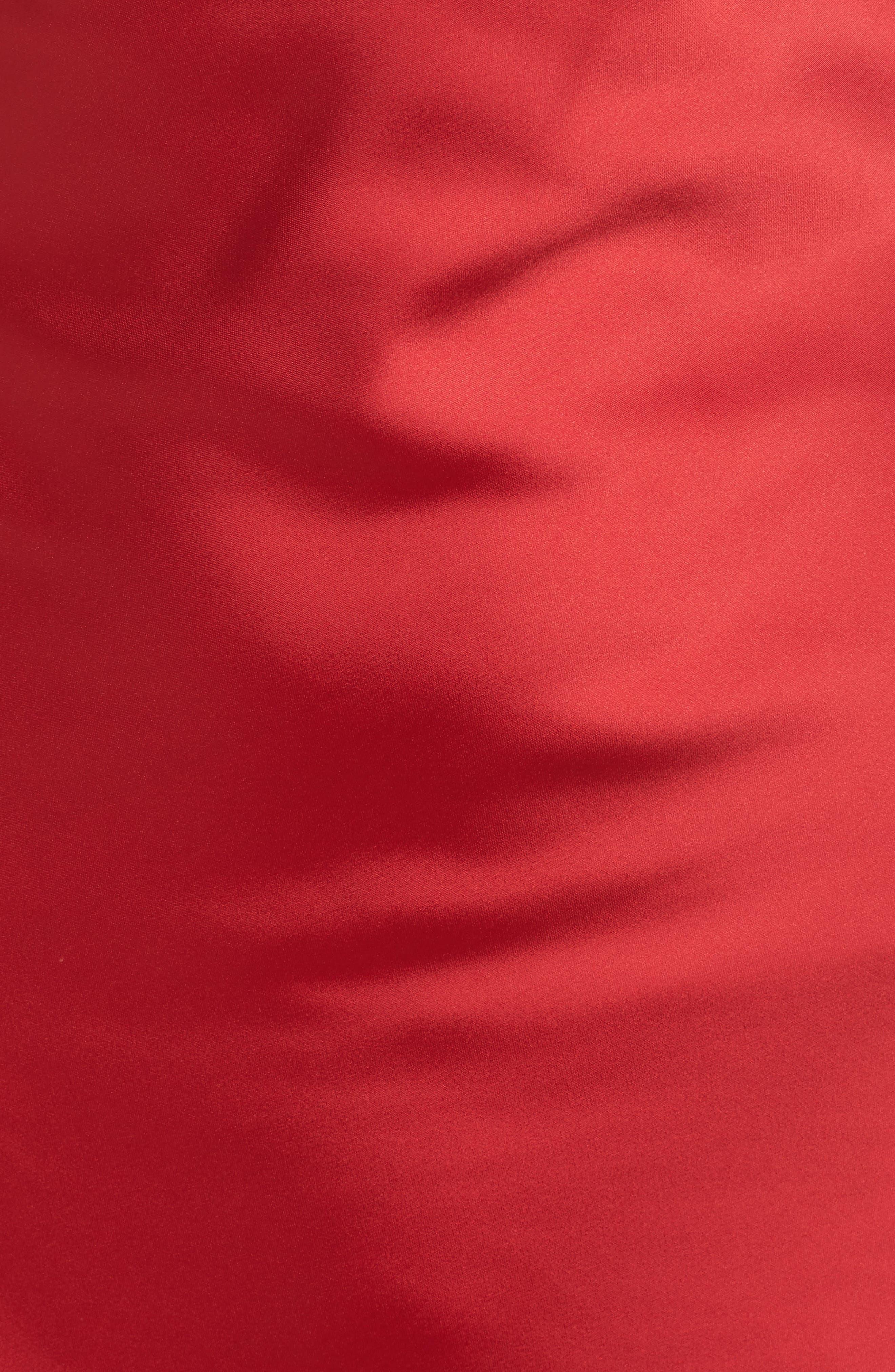 Juliet Satin Gown,                             Alternate thumbnail 5, color,                             Crimson