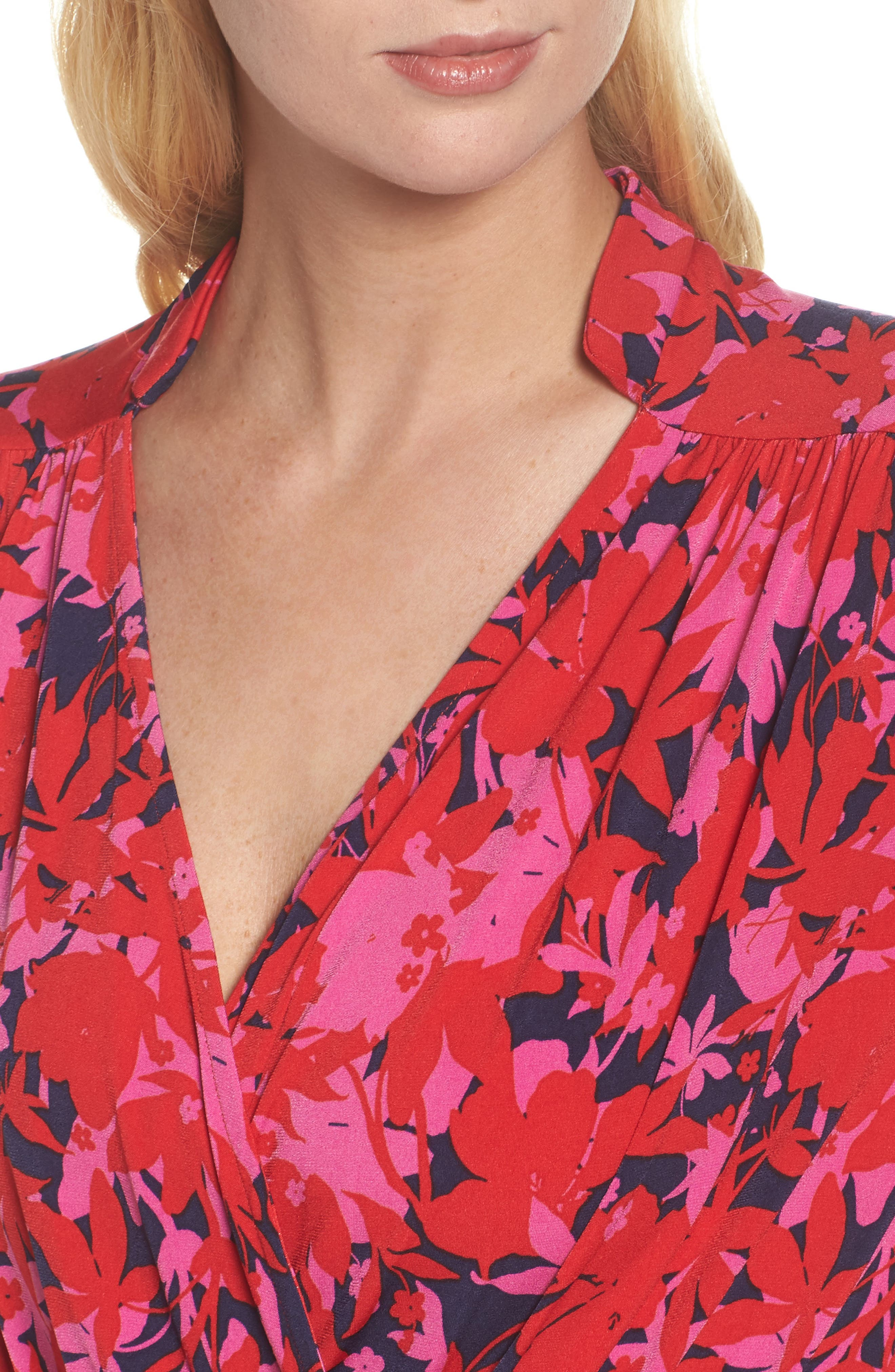 Bridget Faux Wrap Maxi Dress,                             Alternate thumbnail 4, color,                             Porte