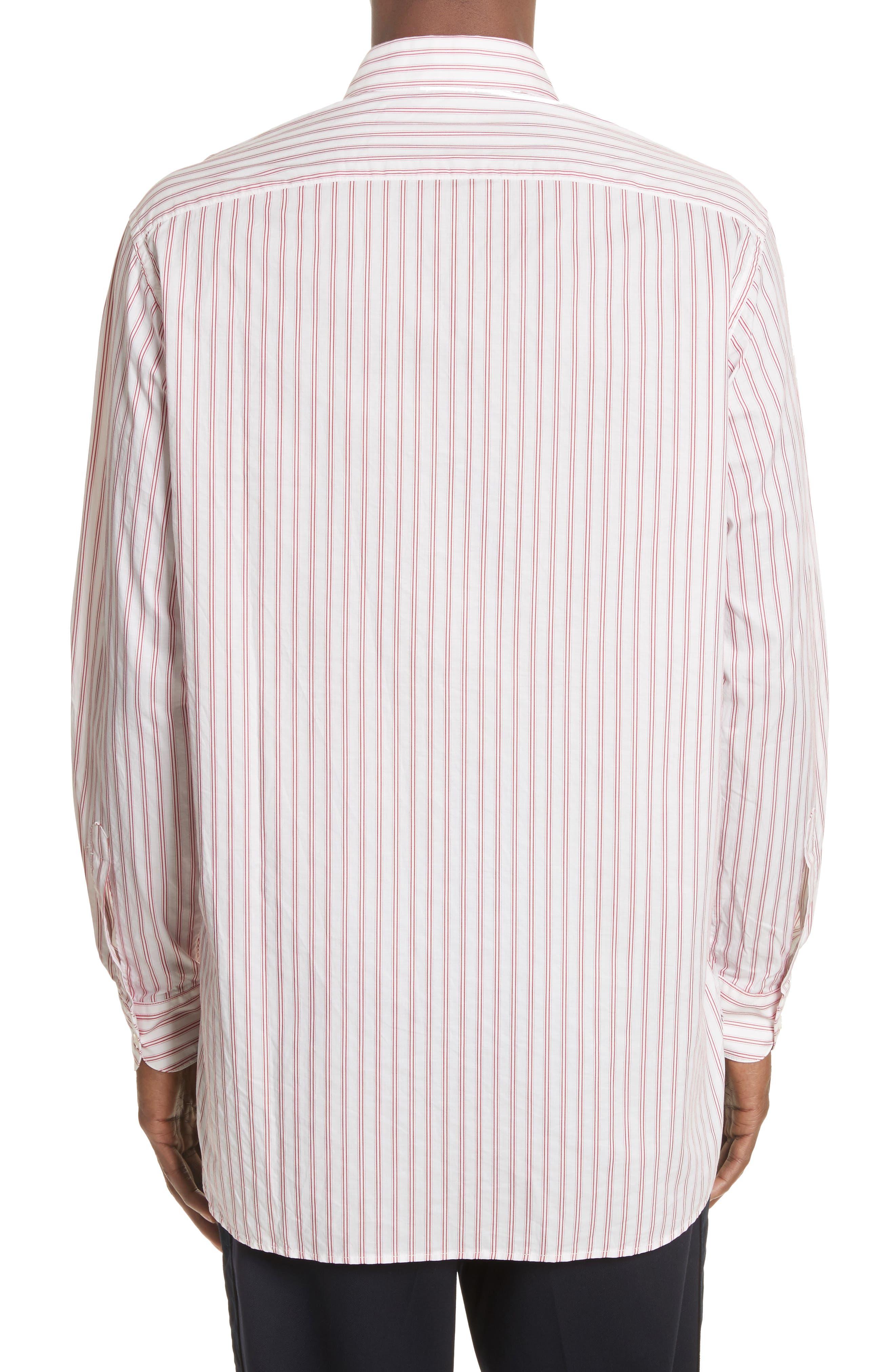 Aega Striped Sport Shirt,                             Alternate thumbnail 4, color,                             Unico