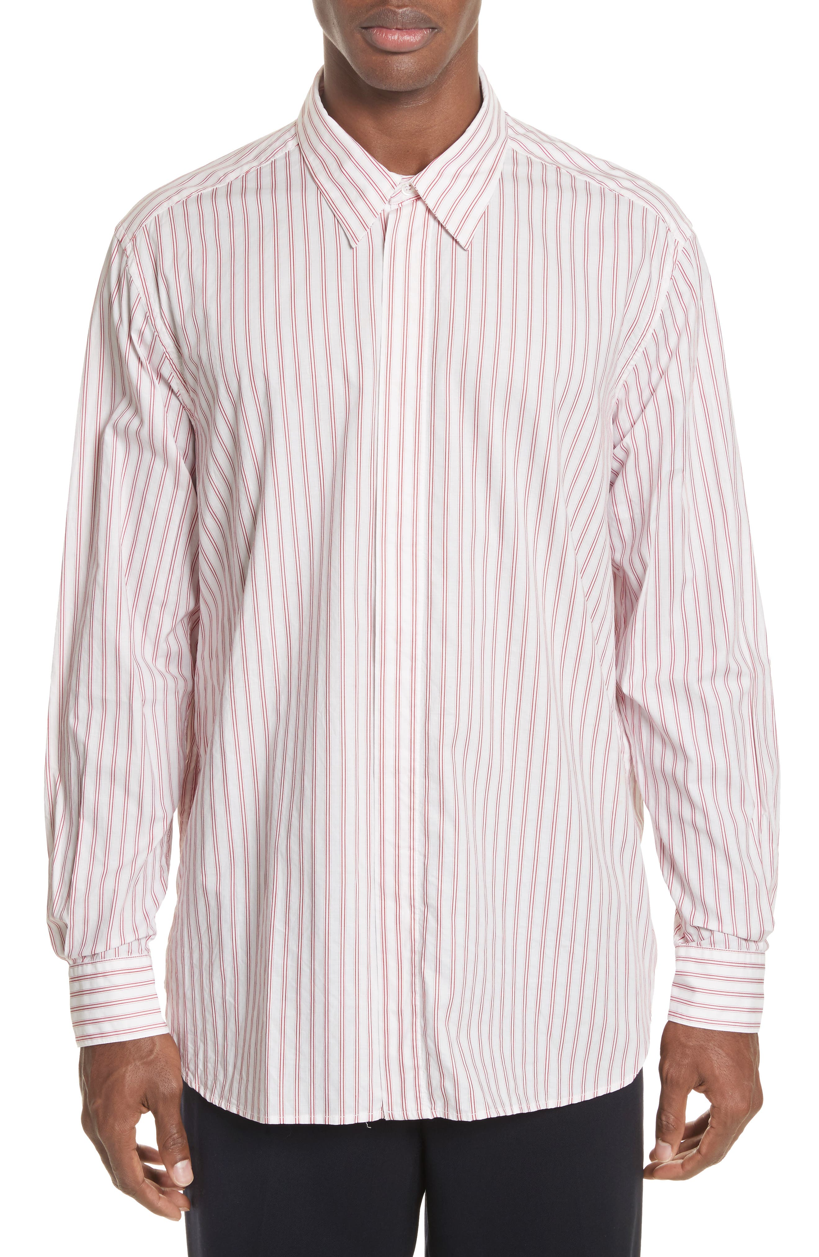 Aega Striped Sport Shirt,                         Main,                         color, Unico