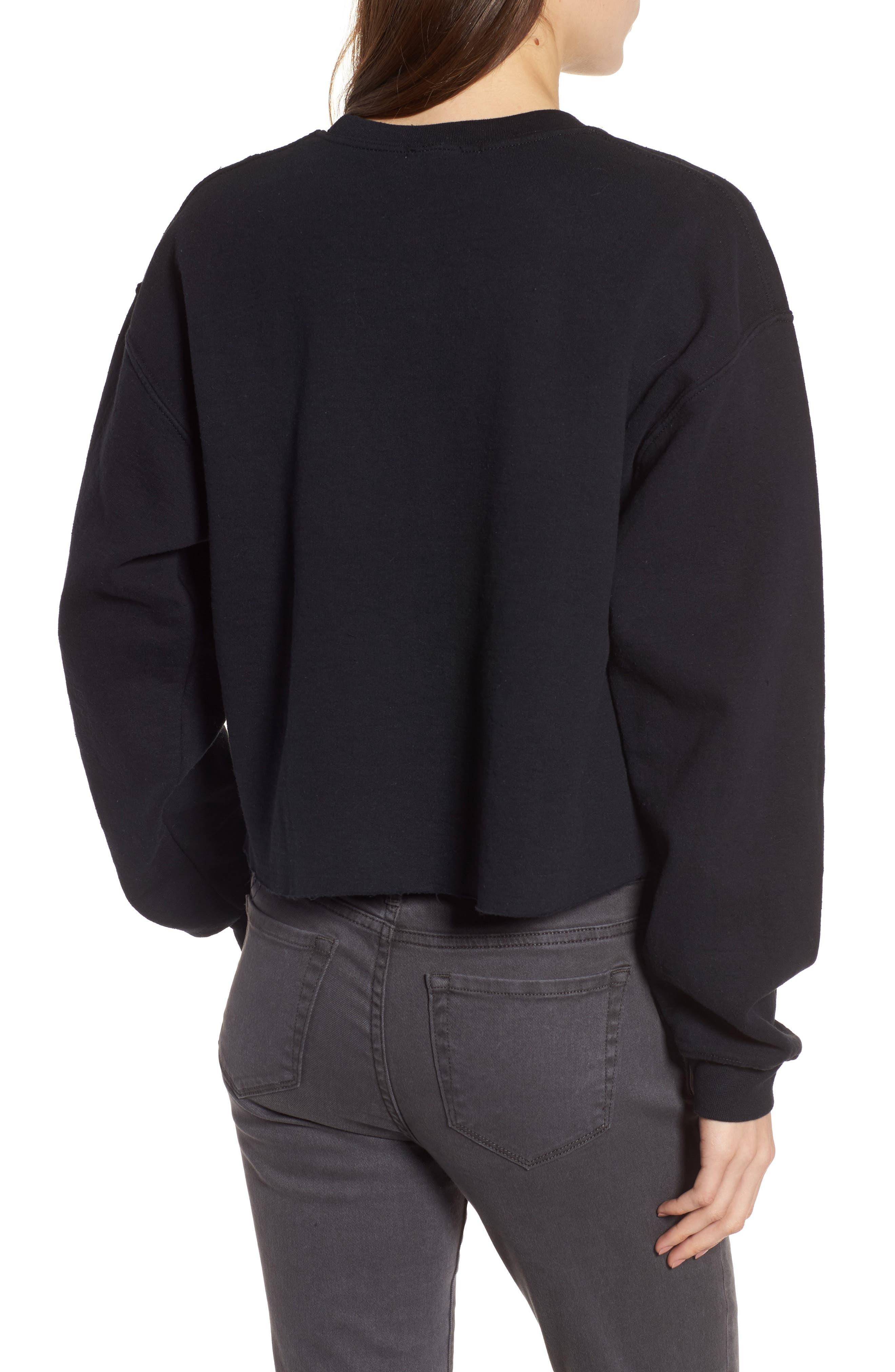 Mistletoe Sweatshirt,                             Alternate thumbnail 2, color,                             Black