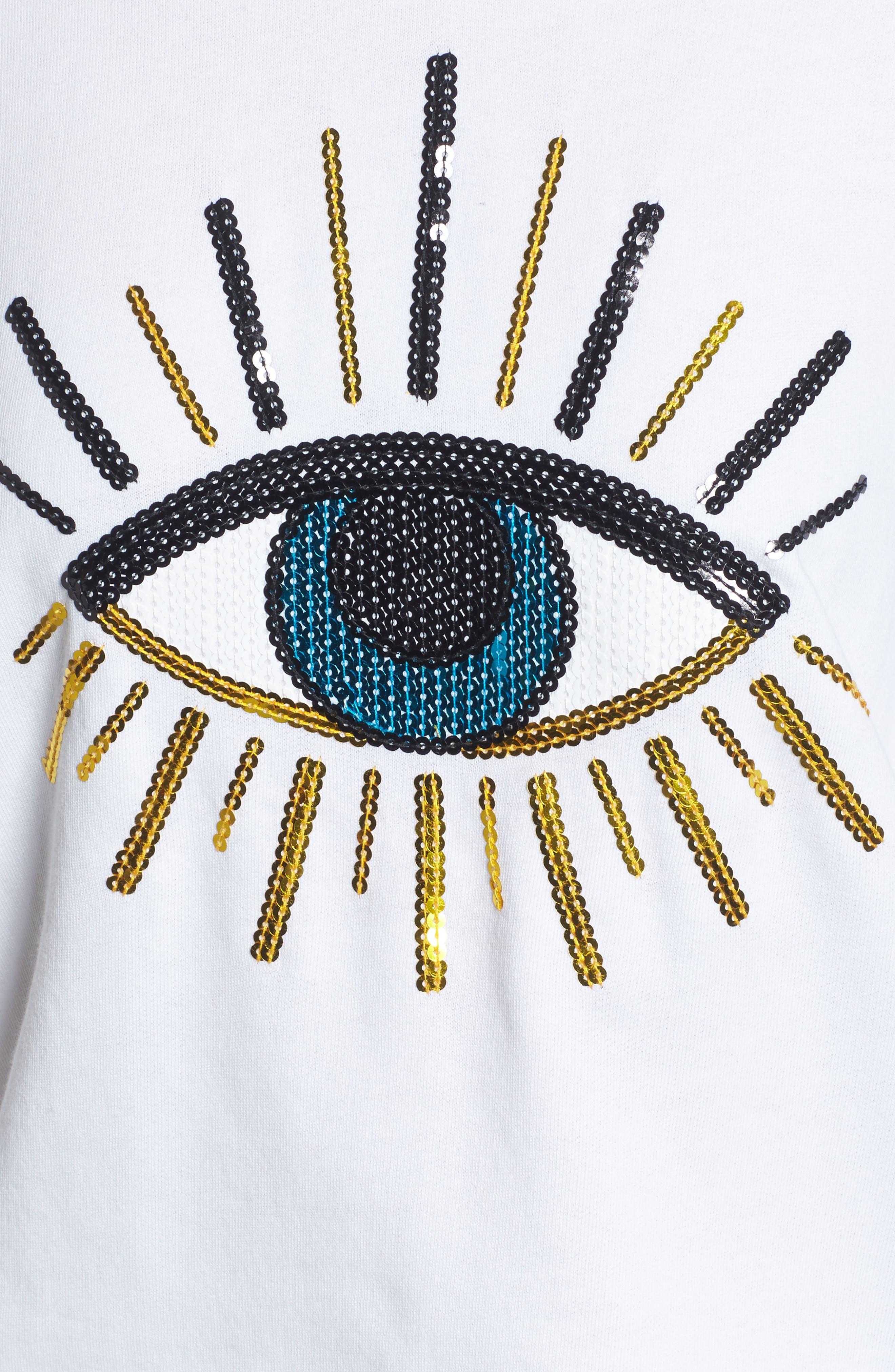 Alternate Image 5  - South Parade Alexa - Evil Eye Sweatshirt