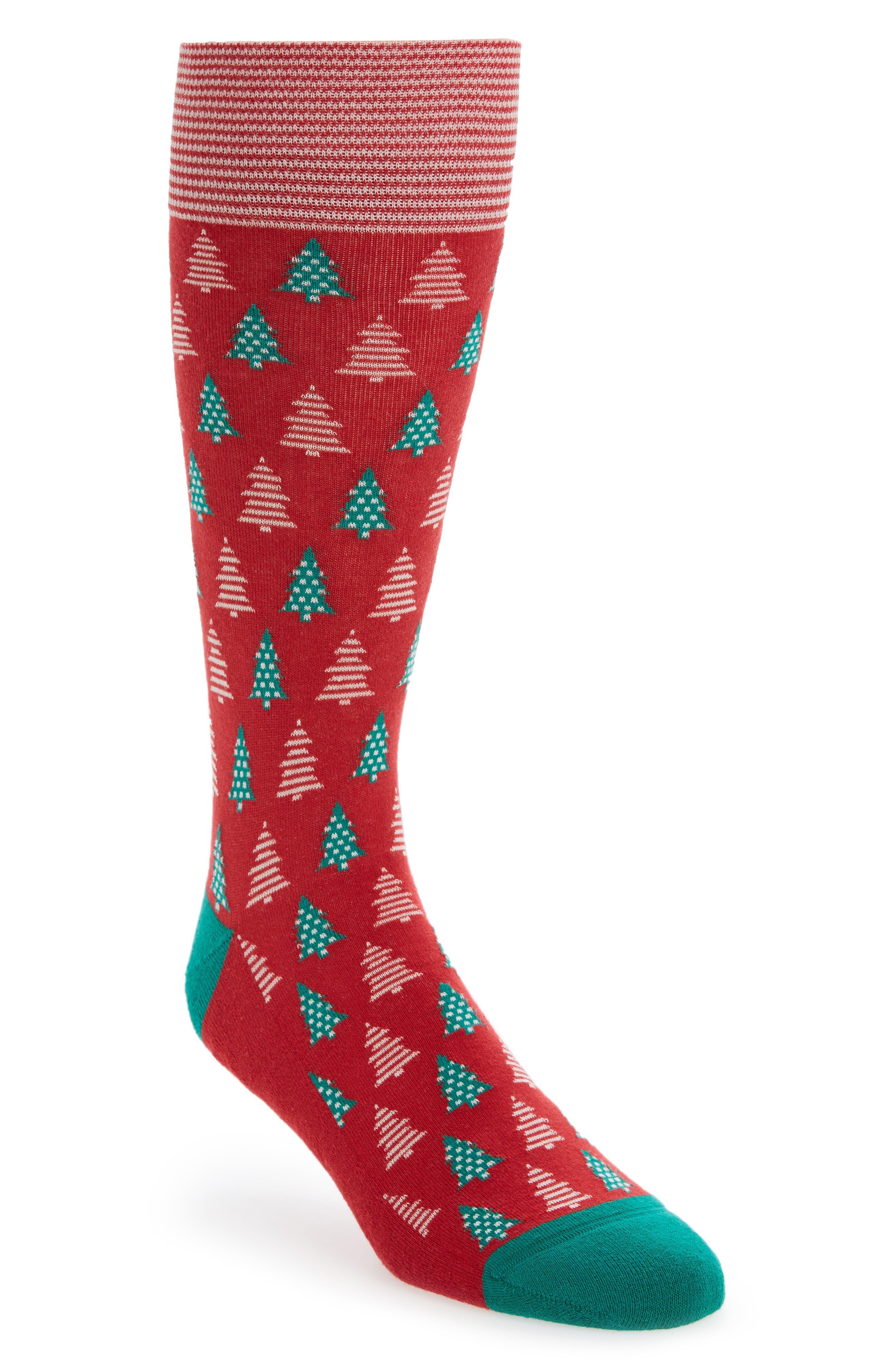 Nordstrom Men's Shop Holiday Trees Socks