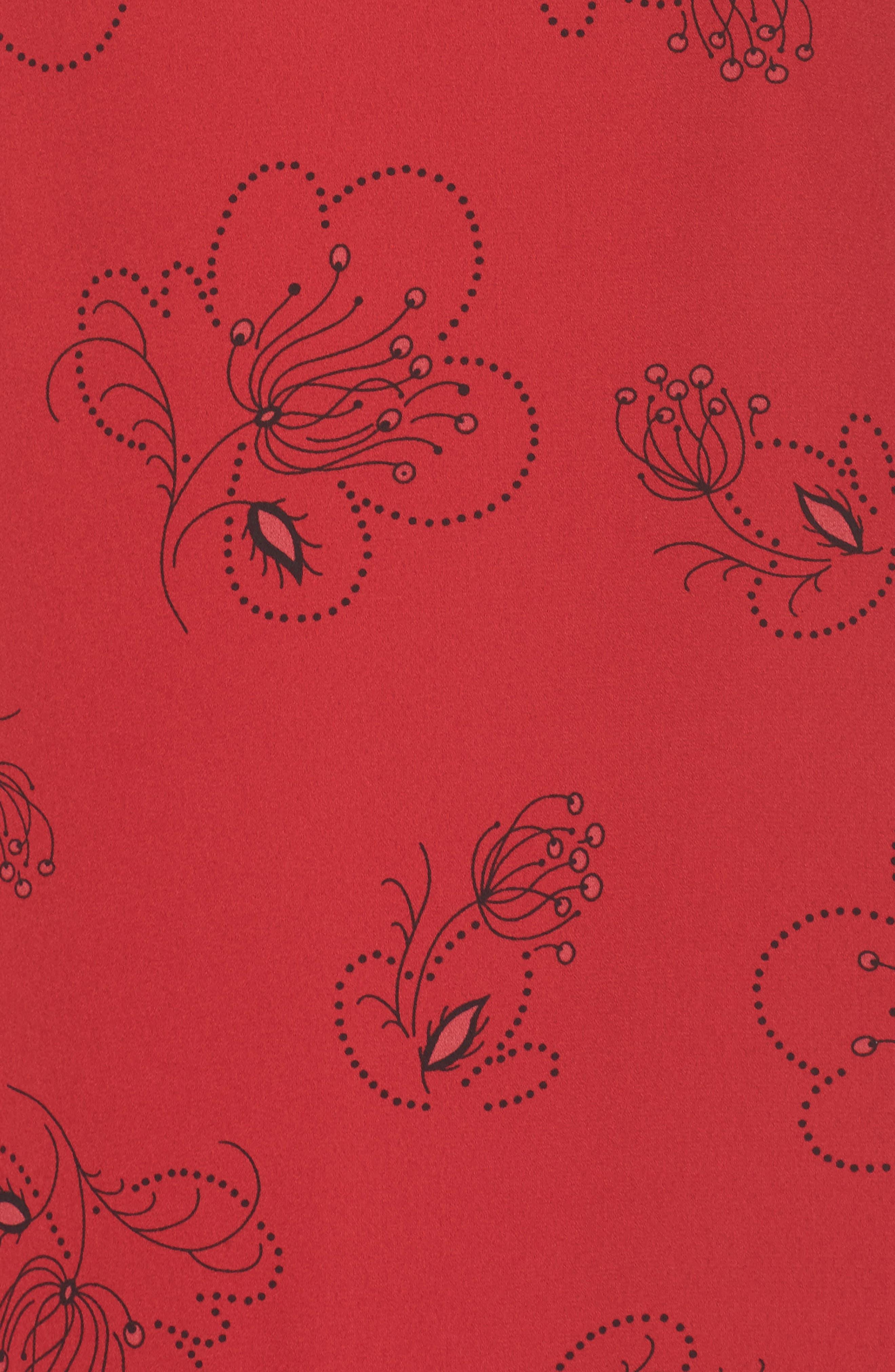 Lizzie Shift Dress,                             Alternate thumbnail 5, color,                             Pomegranate Multi