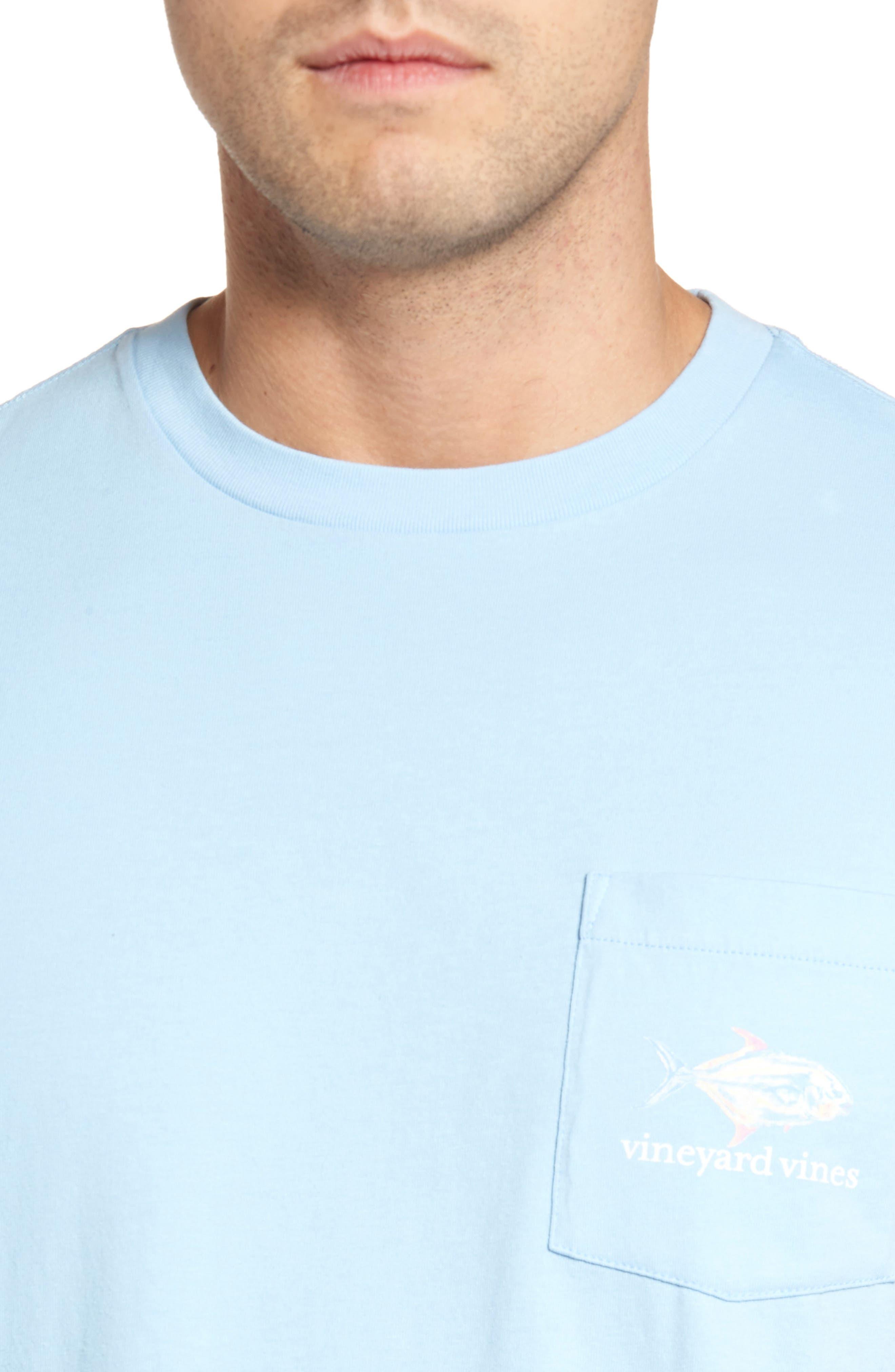 Painted Permit Graphic Pocket T-Shirt,                             Alternate thumbnail 4, color,                             Jake Blue