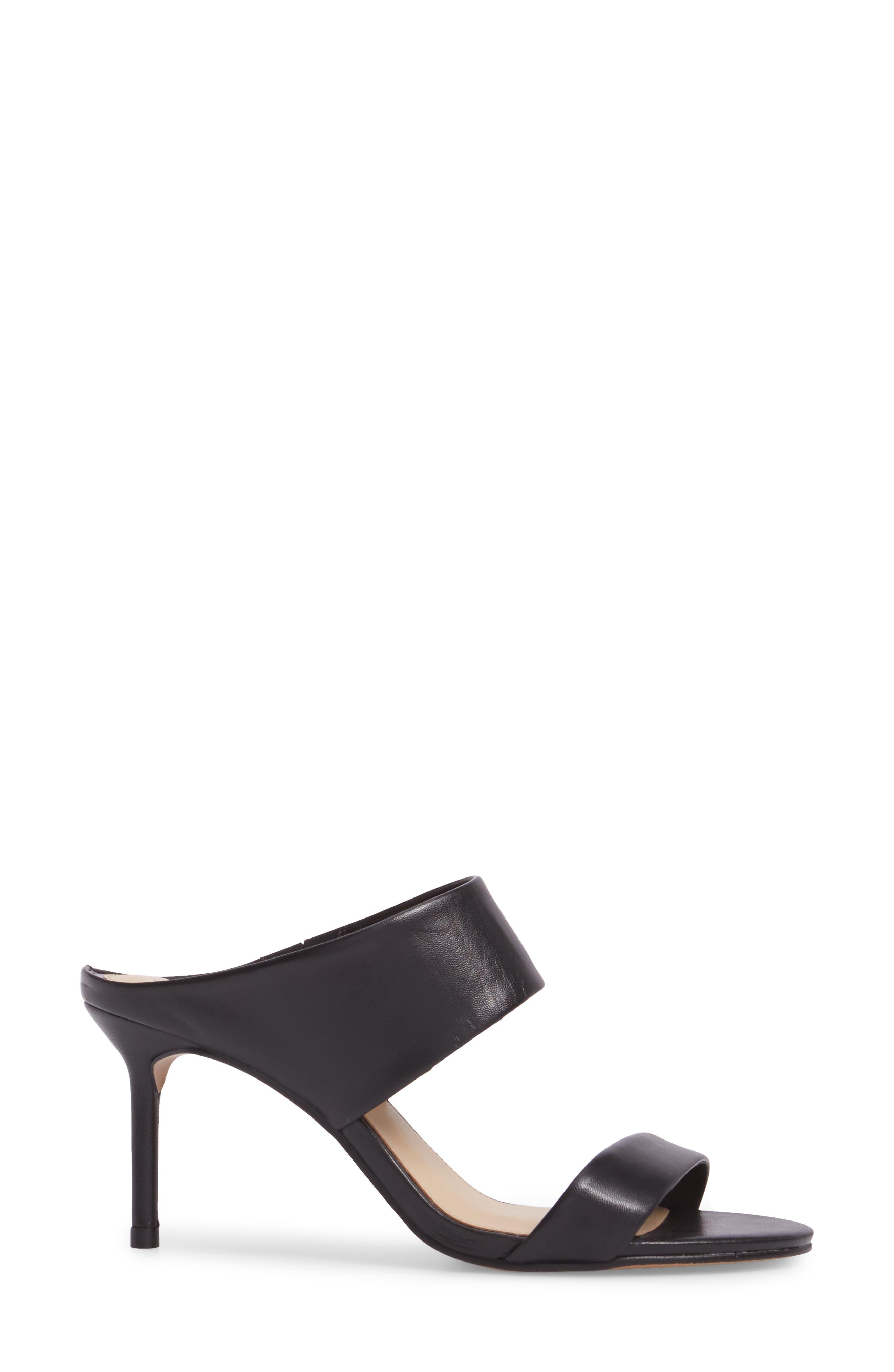 Navinta Sandal,                             Alternate thumbnail 3, color,                             Black Nappa Leather