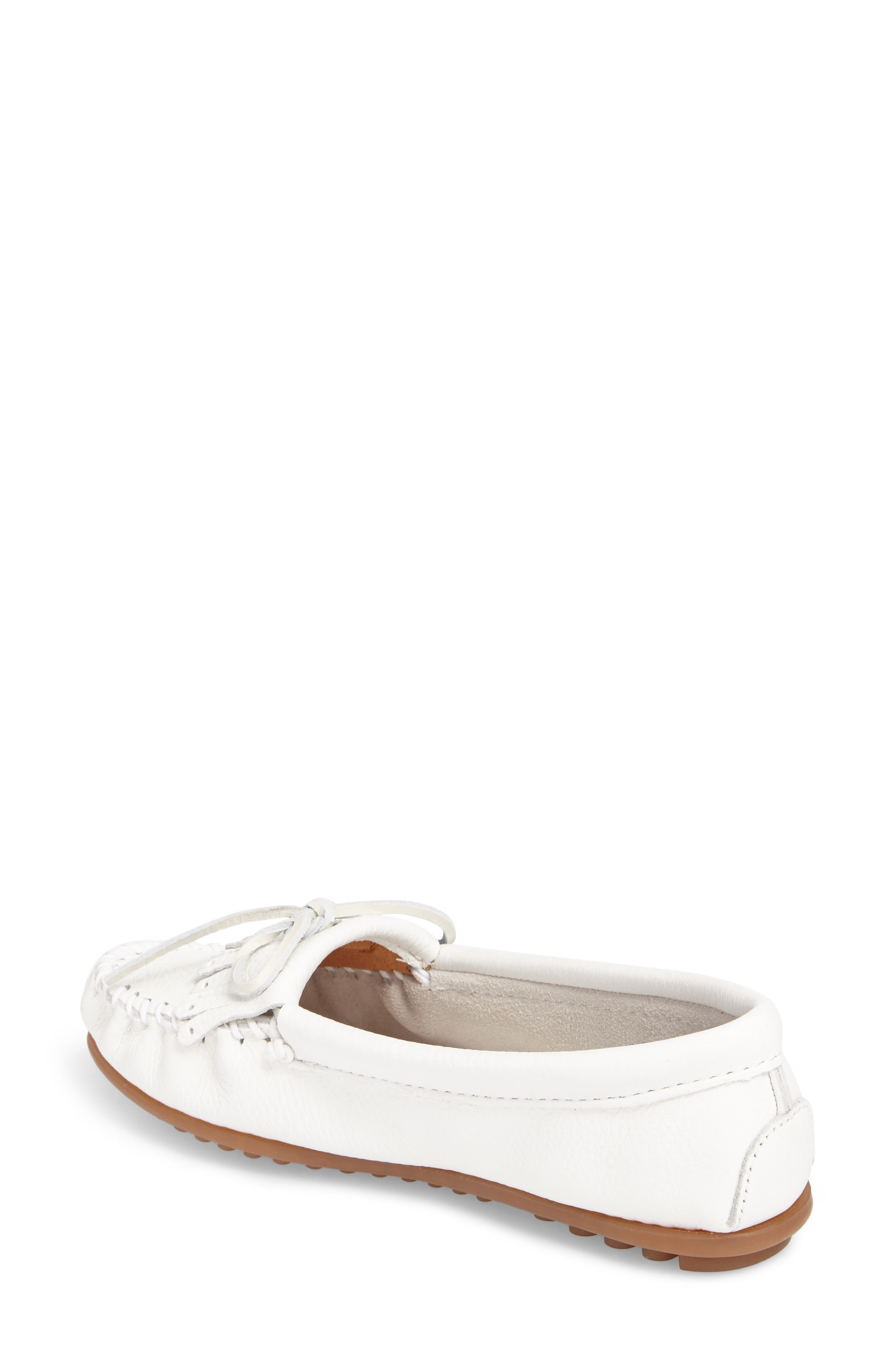 Kilty Moccasin,                             Alternate thumbnail 2, color,                             White Leather