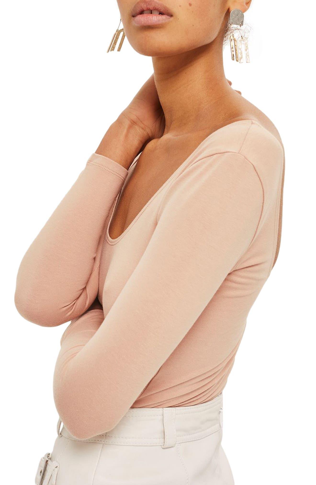 Alternate Image 4  - Topshop Stretch Cotton Long Sleeve Bodysuit