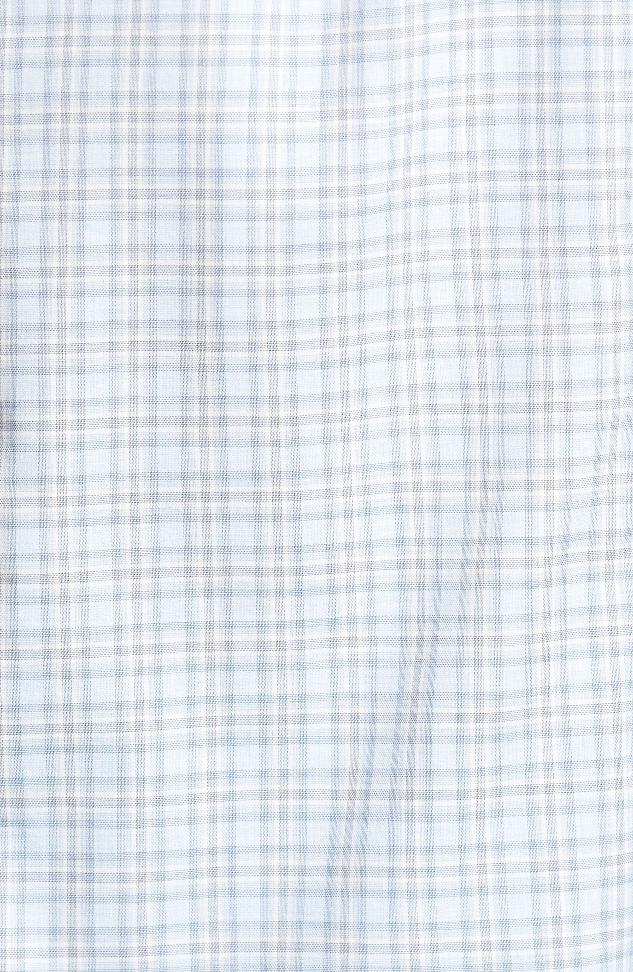 Plaid Sport Shirt,                             Alternate thumbnail 5, color,                             Blue