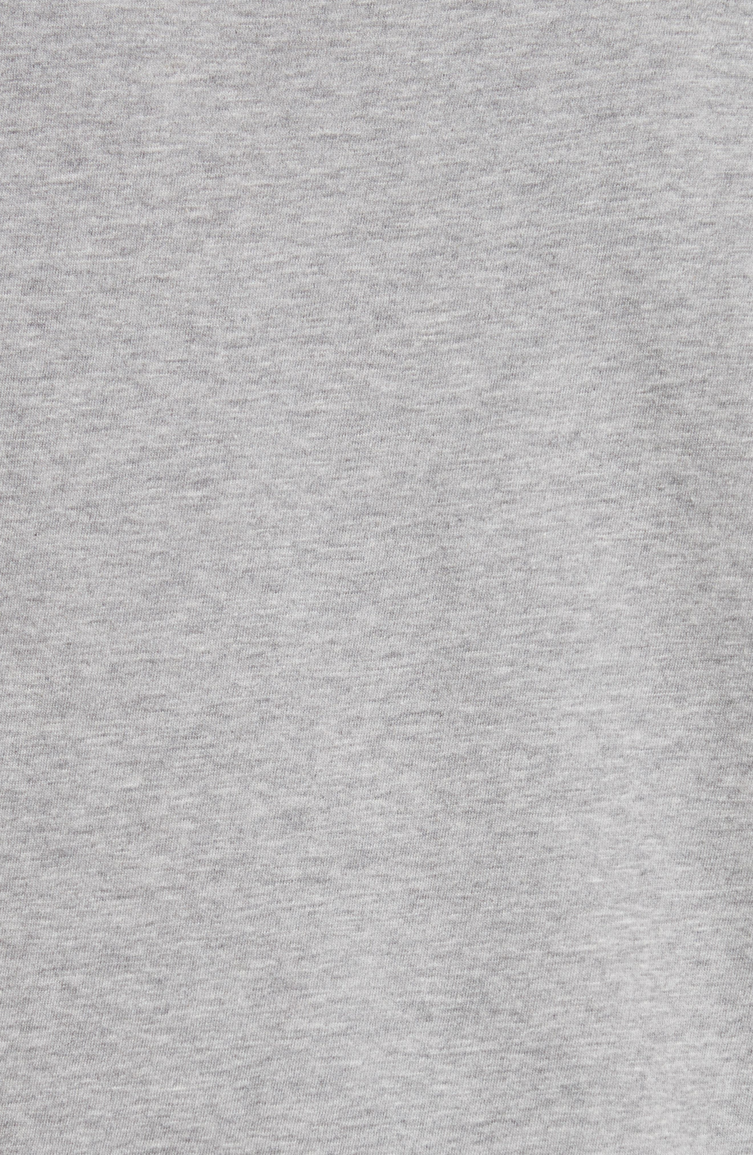 Yearbook Print Embroidered Tee,                             Alternate thumbnail 5, color,                             Grey Melange
