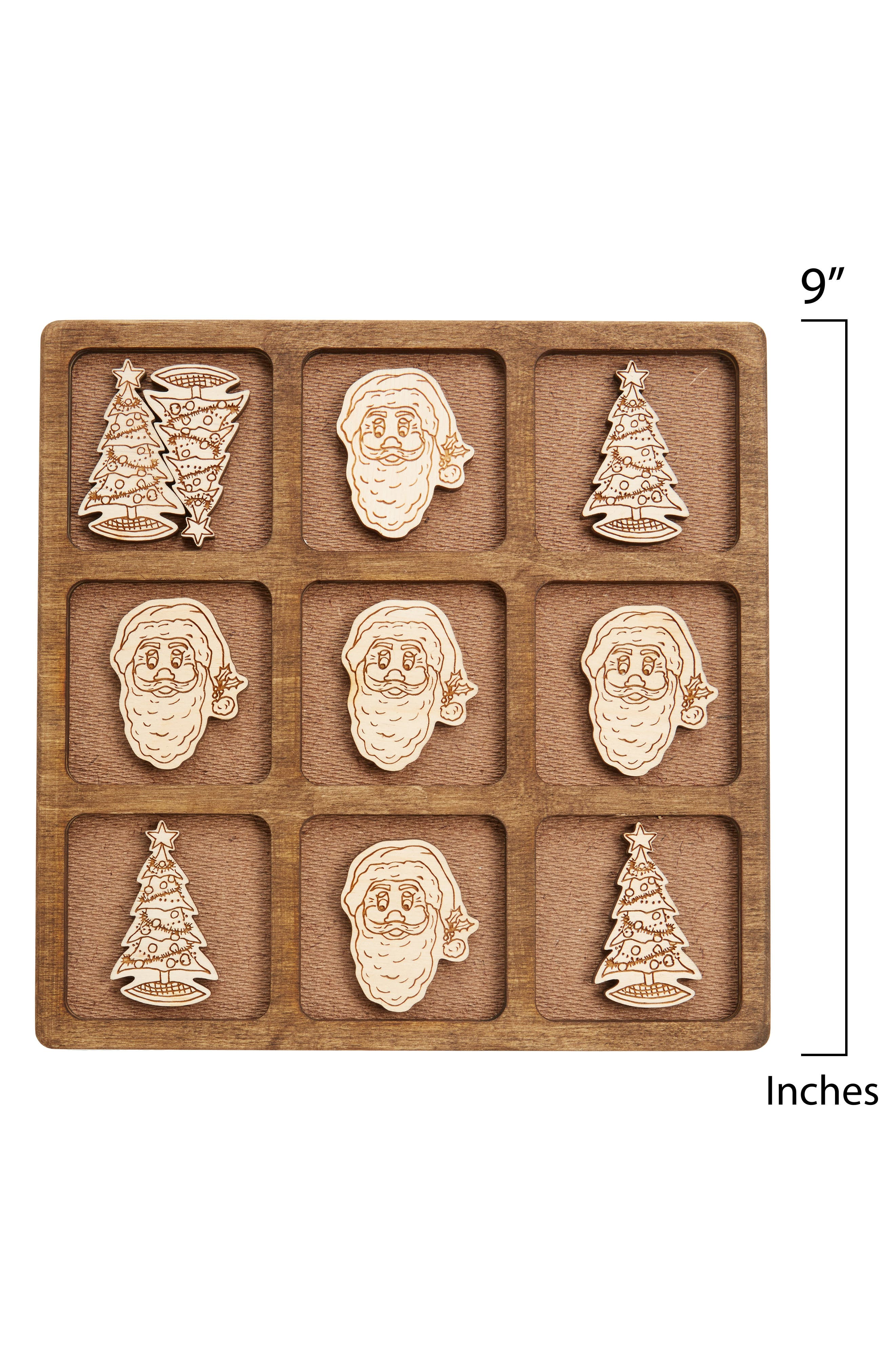 Toys 11-Piece Christmas Tic-Tac-Toe Game,                             Alternate thumbnail 5, color,                             Walnut