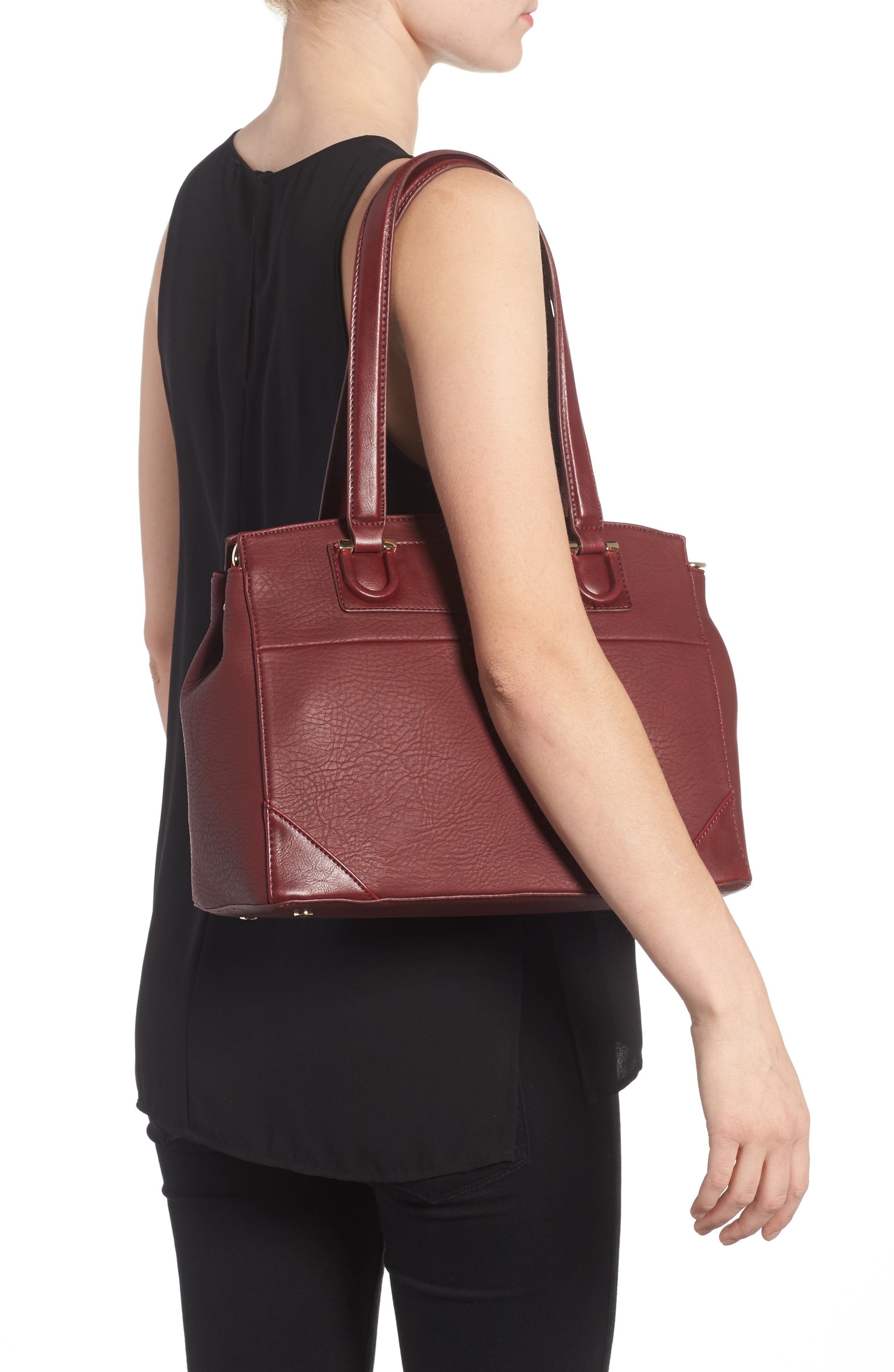 Alternate Image 2  - Sole Society Sterling Faux Leather Satchel