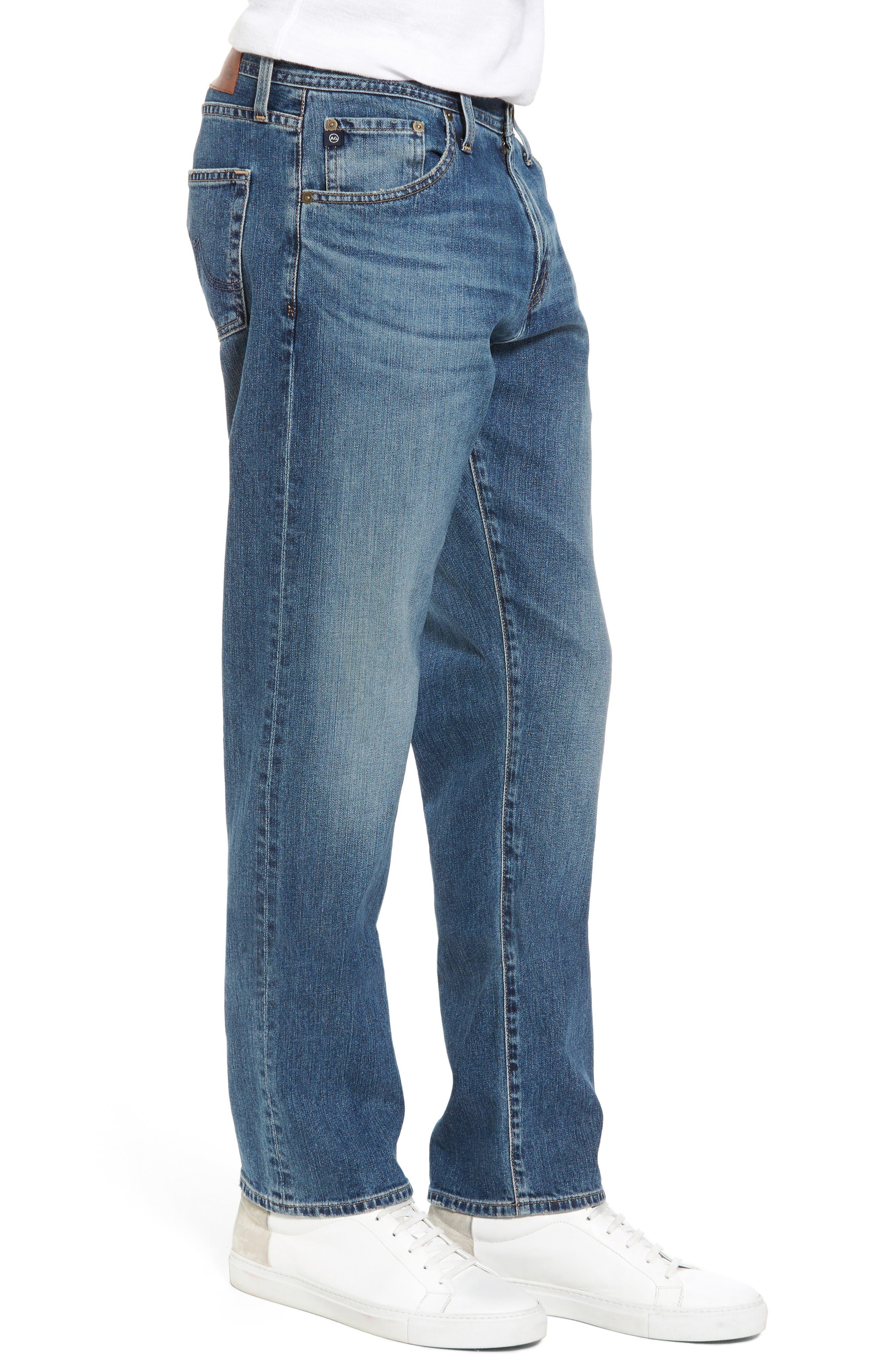 Alternate Image 3  - AG Ives Straight Fit Jeans (Grasslands)