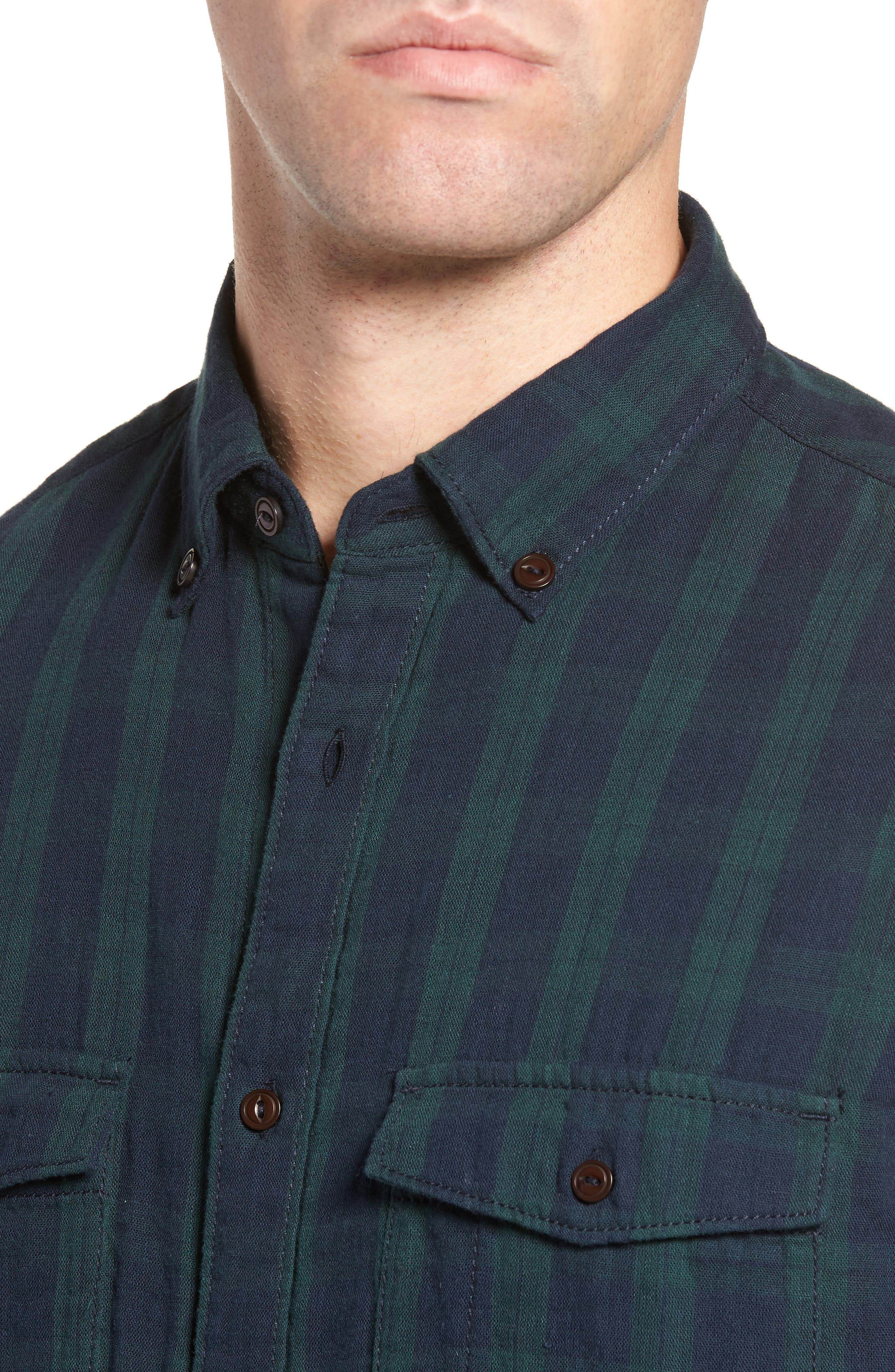 Alternate Image 4  - French Connection Black Watch Double Check Sport Shirt