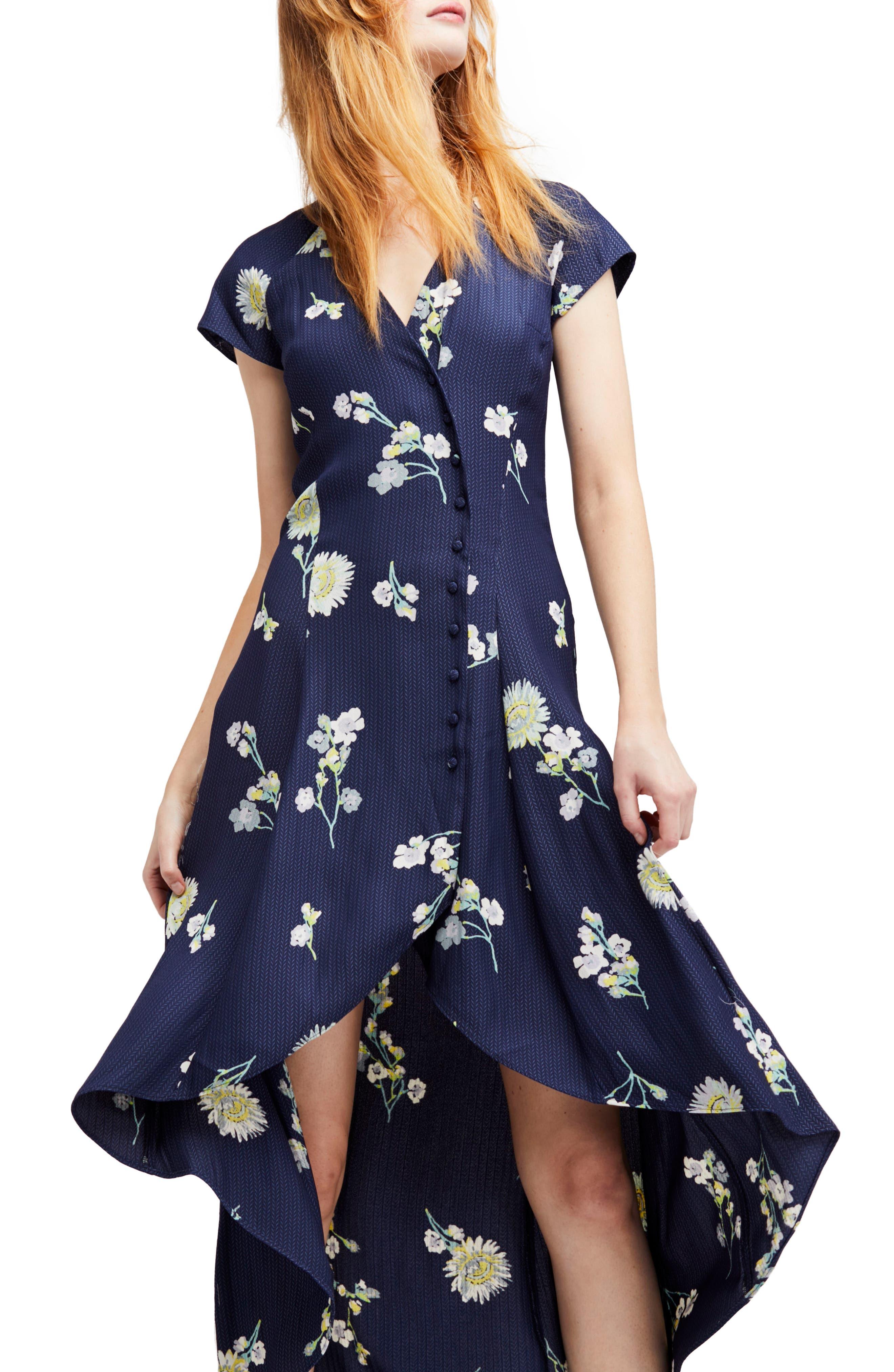 Lost in You Midi Dress,                         Main,                         color, Blue Combo