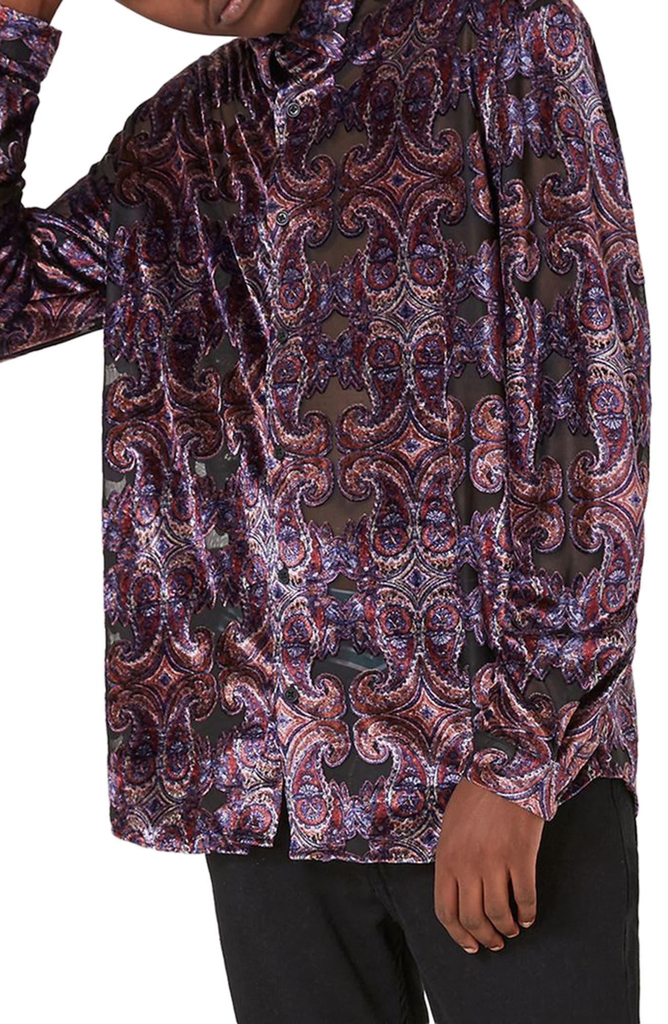 Alternate Image 1 Selected - Topman Paisley Classic Fit Shirt
