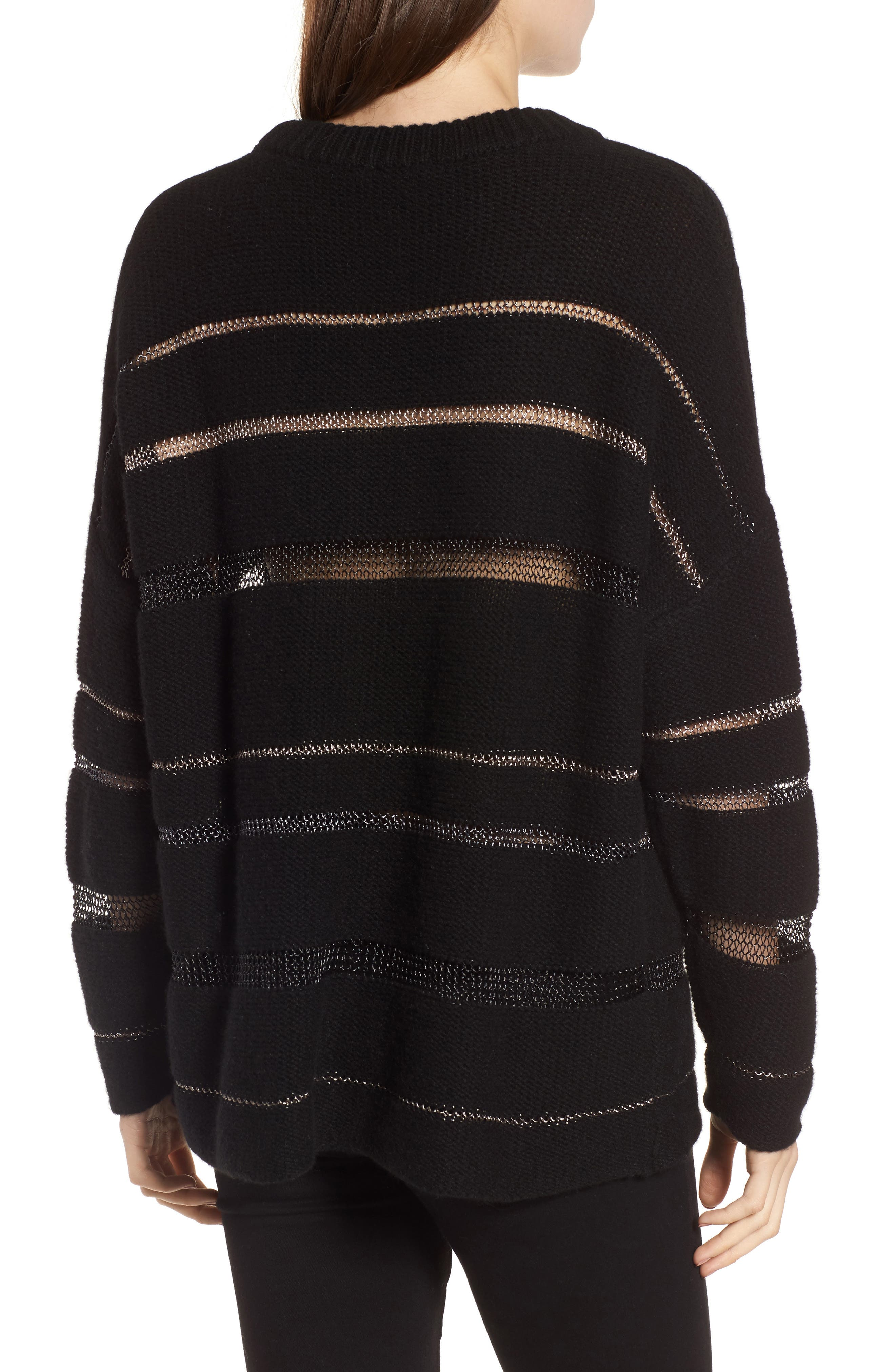 Daphne Stripe Sweater,                             Alternate thumbnail 2, color,                             Milky Way