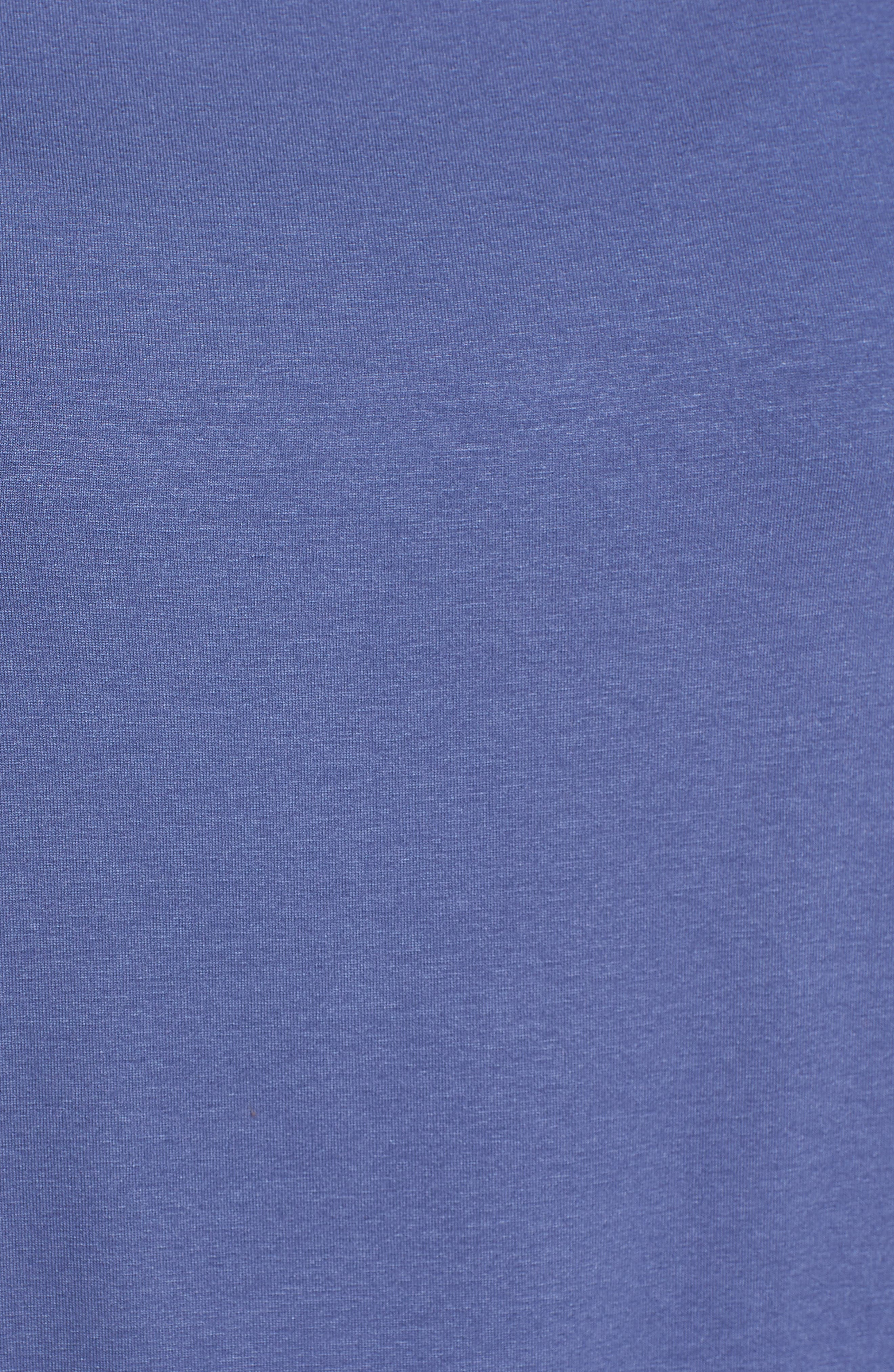 Square Neck Jersey Top,                             Alternate thumbnail 5, color,                             Blue Angel