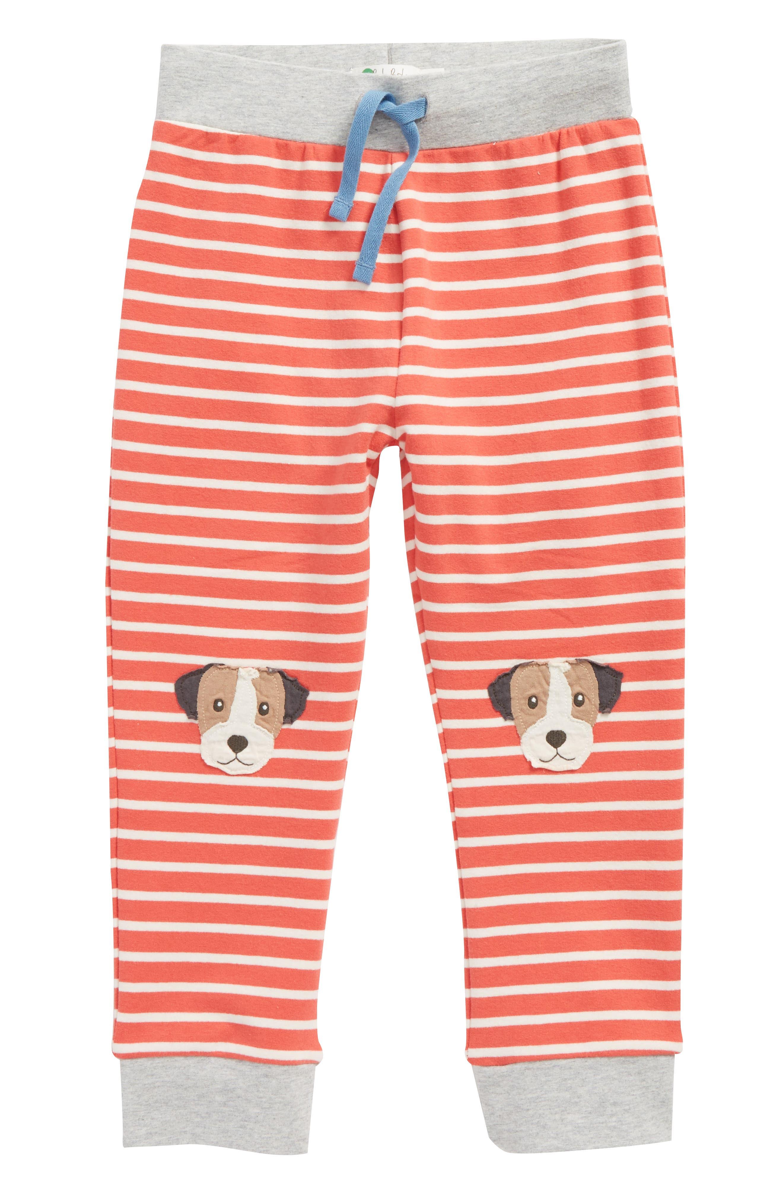 Mini Boden Fun Knee Appliqué Pants (Baby Boys & Toddler Boys)