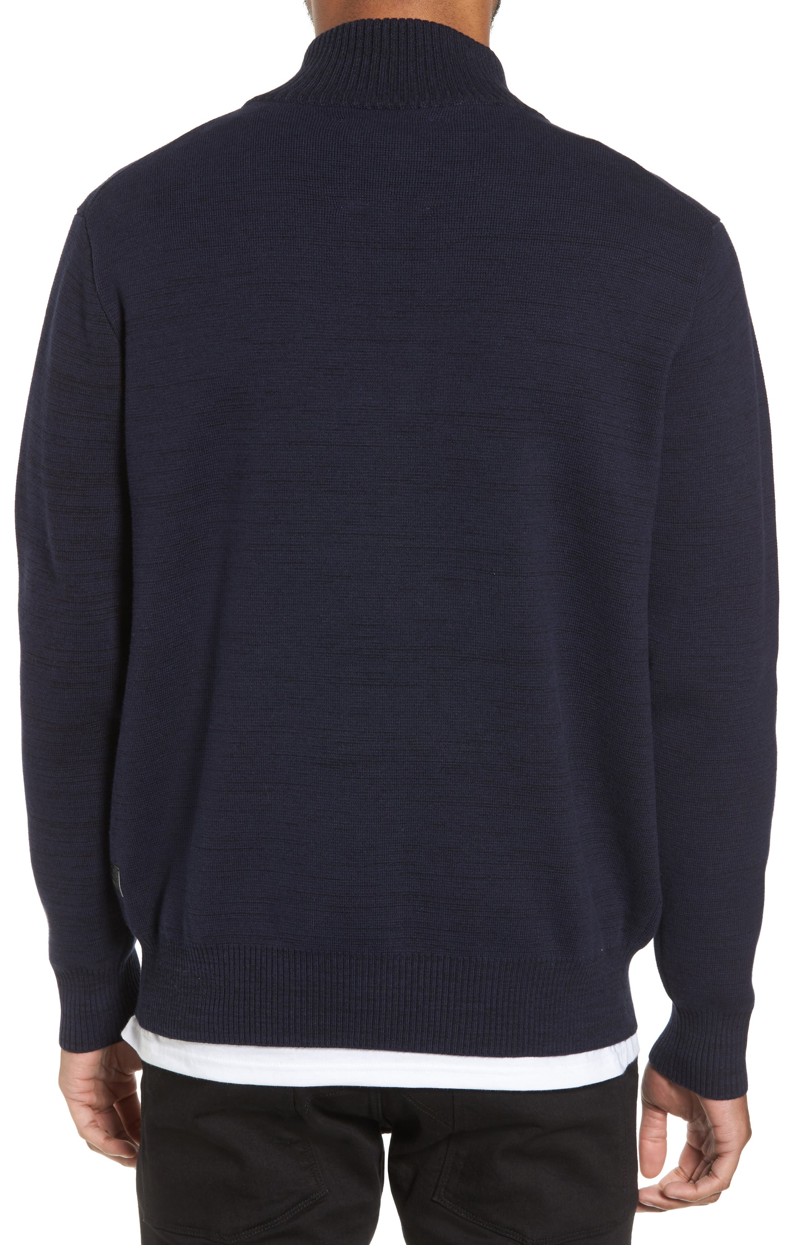 Empral Half-Zip Sweater,                             Alternate thumbnail 2, color,                             Blue/ Dark Black