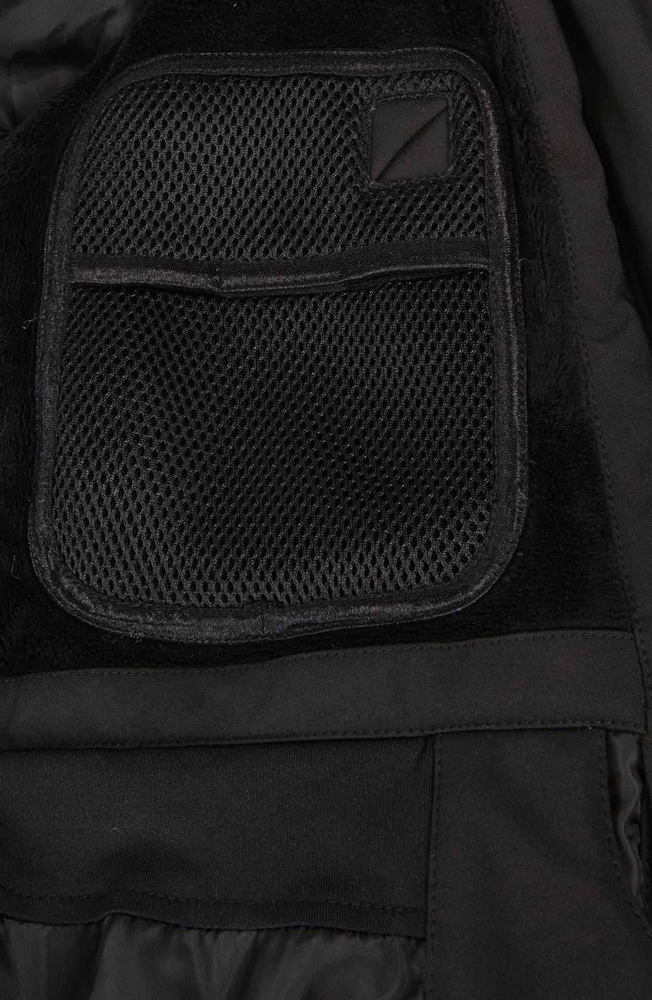 SNO Gladiator Faux Fur Hood Puffer Jacket,                             Alternate thumbnail 6, color,                             Black