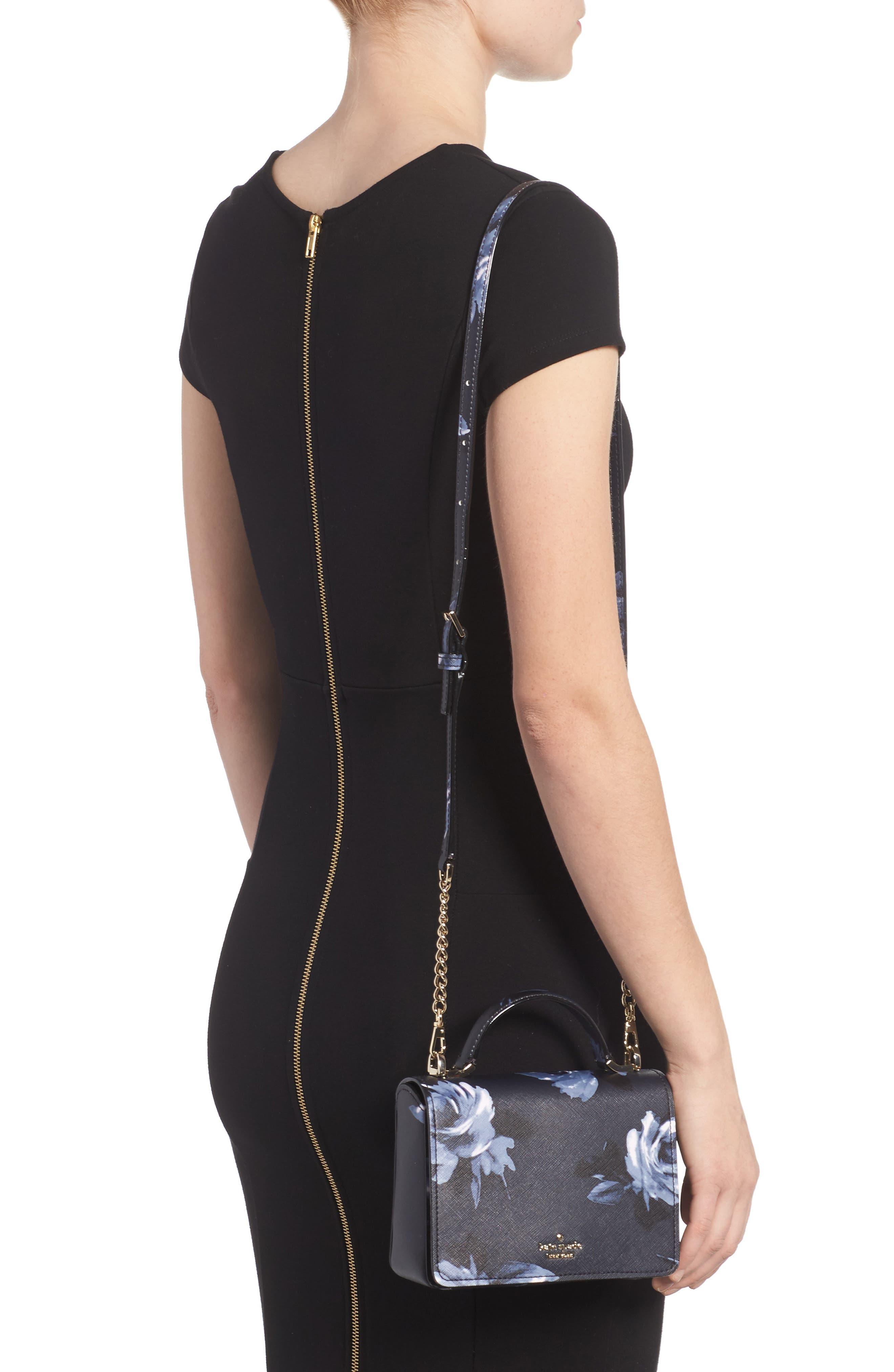 cameron street rose - hope leather crossbody bag,                             Alternate thumbnail 2, color,                             Rich Navy Multi