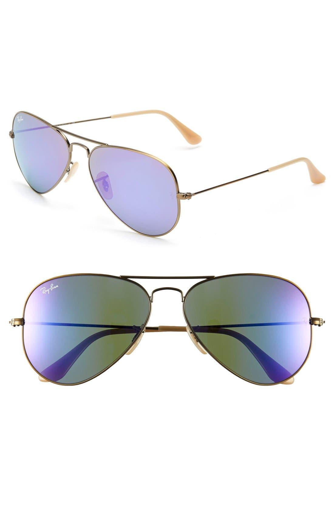 Main Image - Ray-Ban Standard Original 58mm Aviator Sunglasses