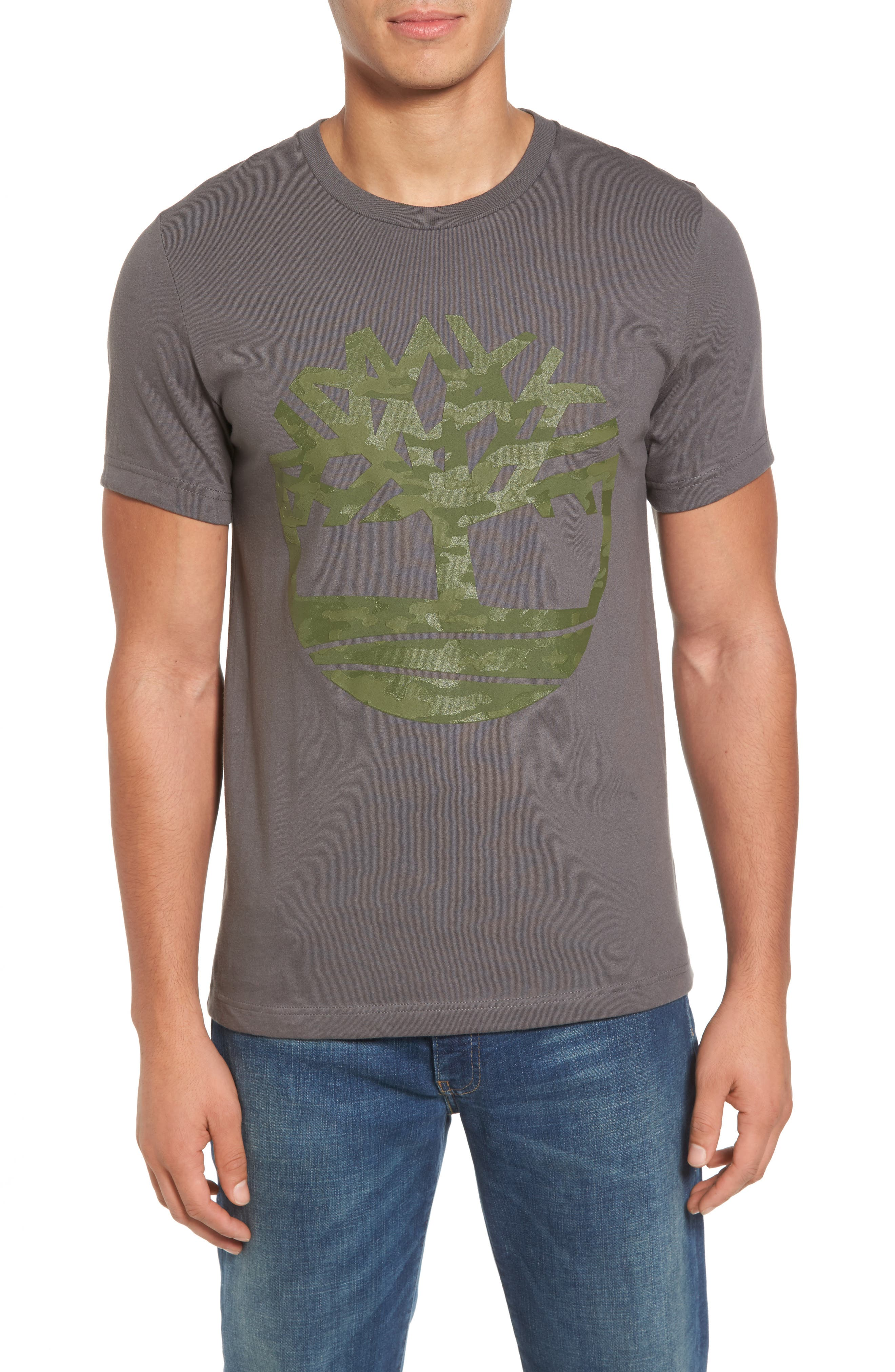 Textured Camo Graphic T-Shirt,                         Main,                         color, Grey